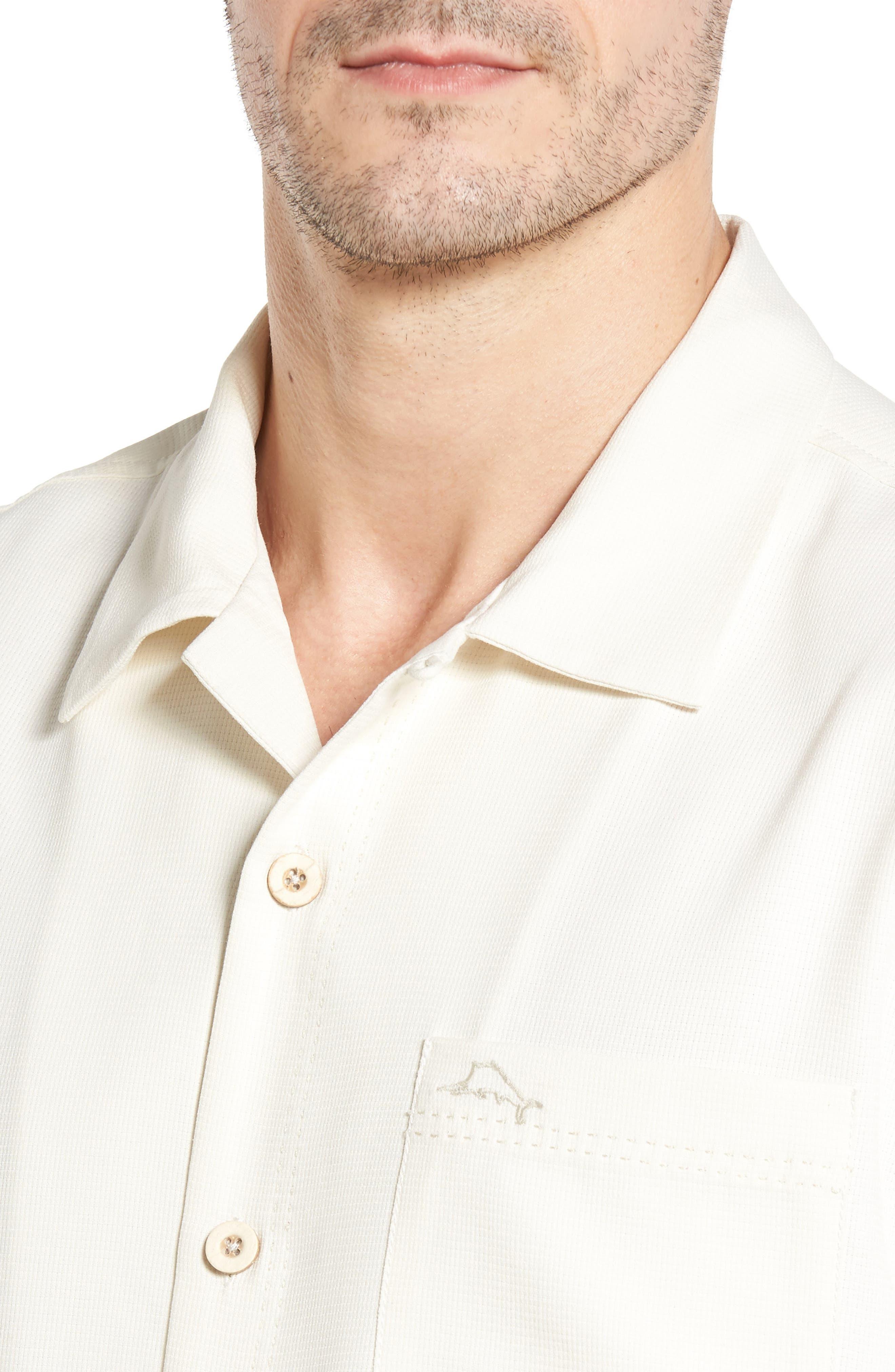 Royal Bermuda Standard Fit Silk Blend Camp Shirt,                             Alternate thumbnail 4, color,                             Continental