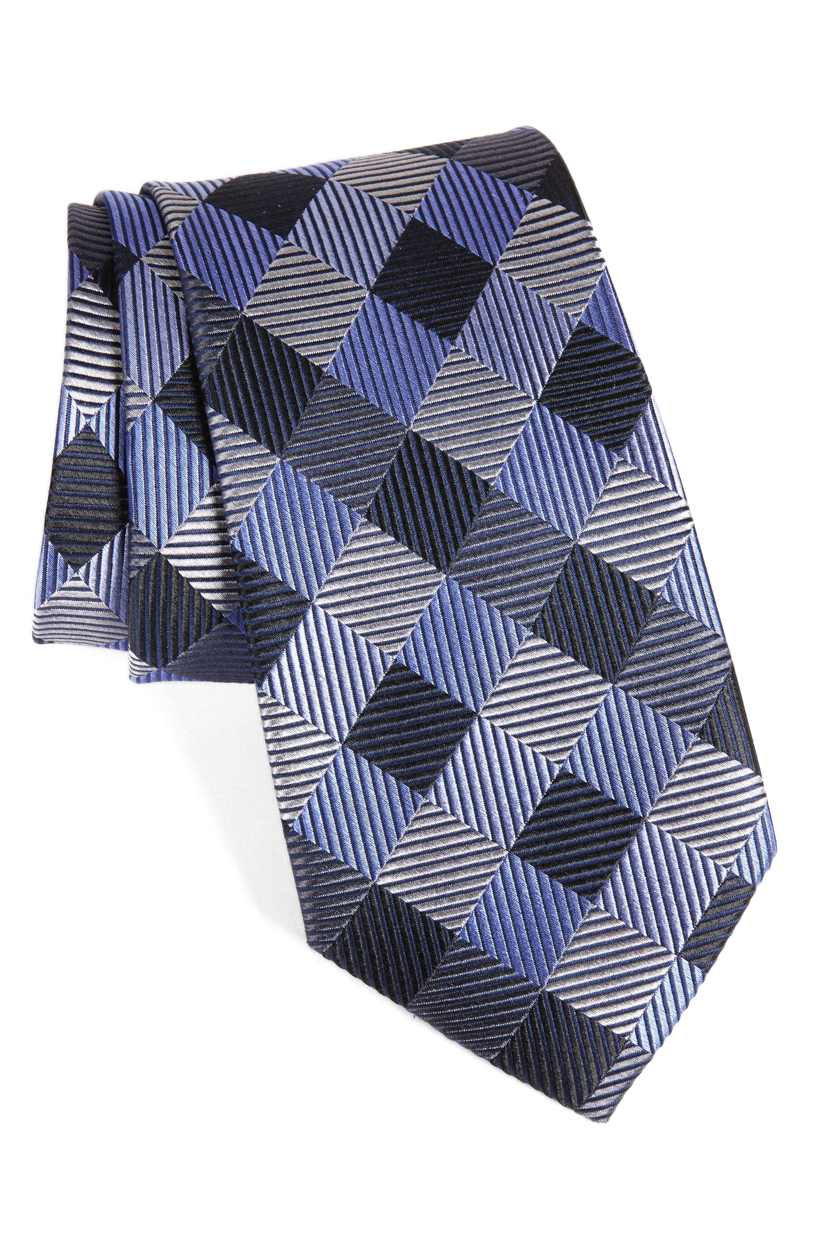 Alternate Image 1 Selected - Nordstrom Men's Shop Check Silk Tie
