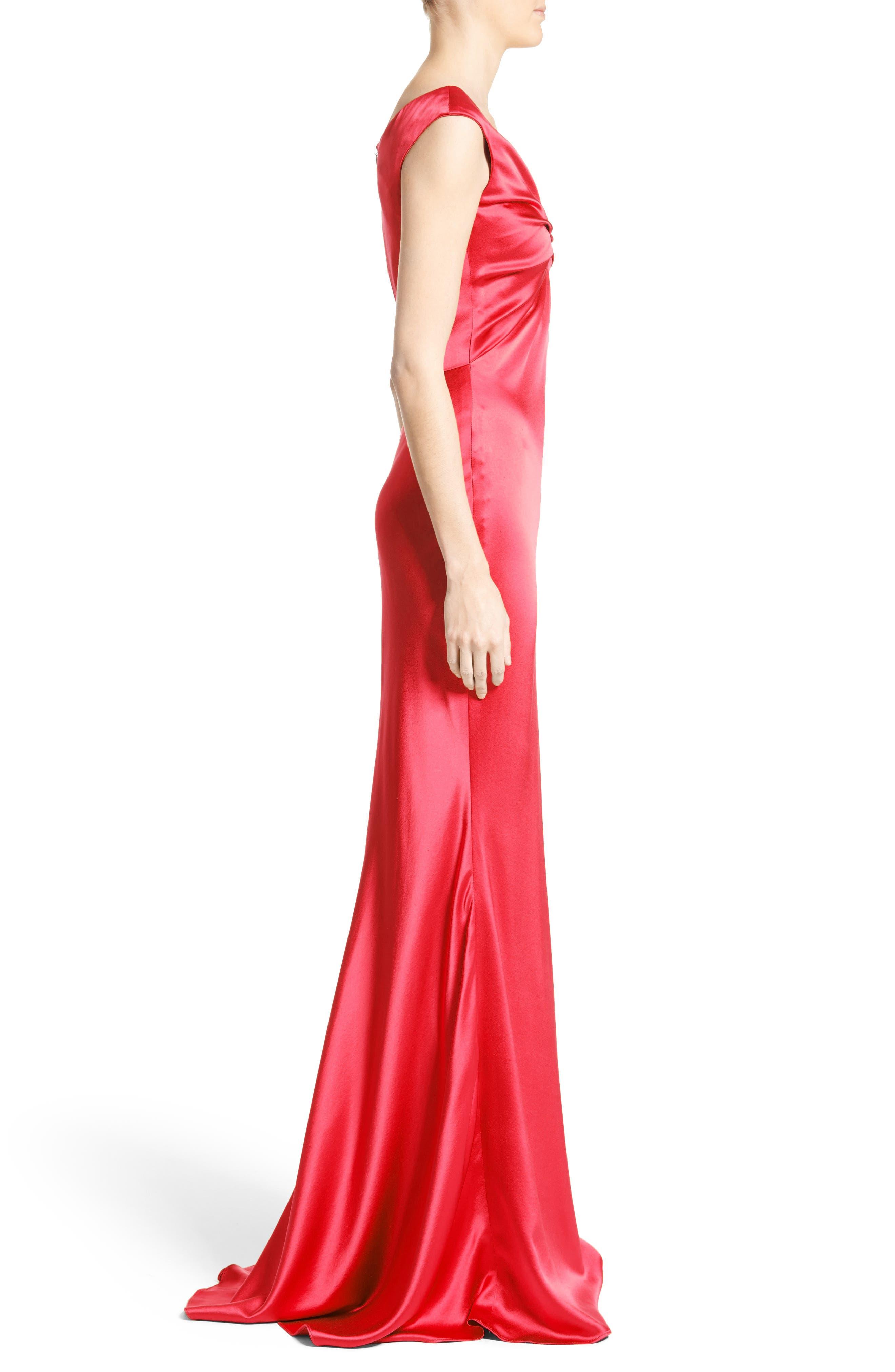Alternate Image 4  - Carolina Herrera Silk Satin Gown (Nordstrom Exclusive)