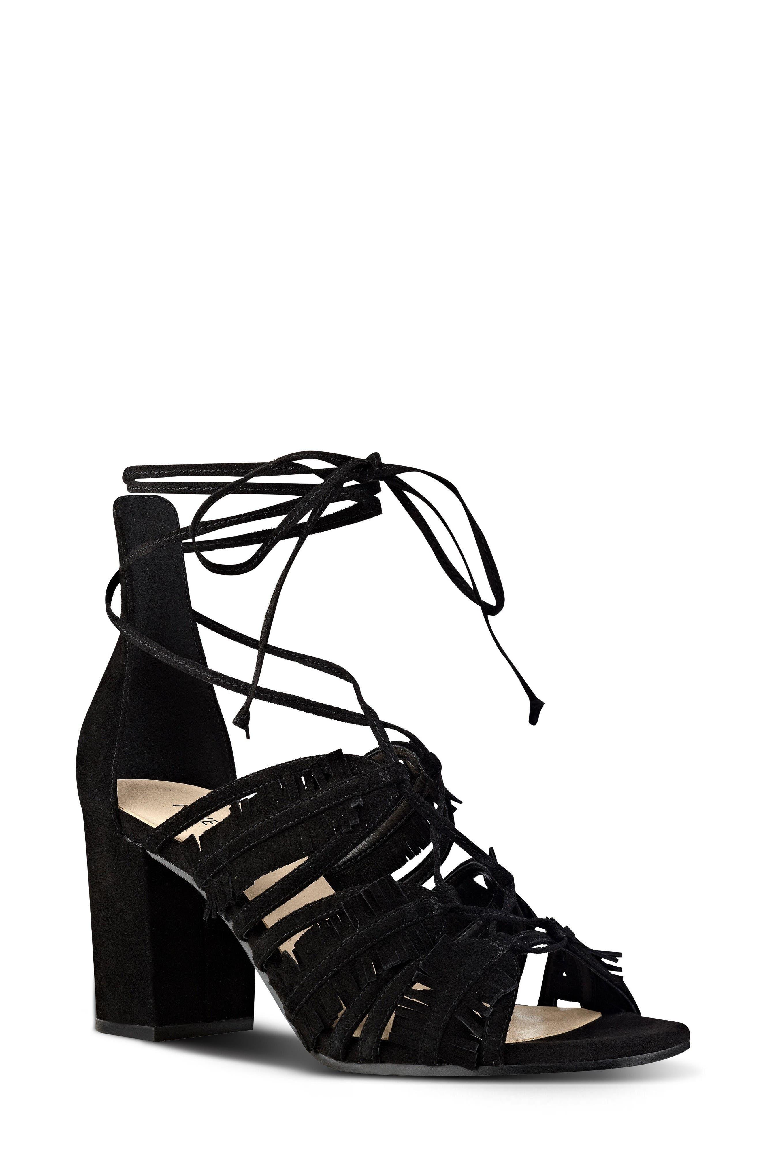 Main Image - Nine West Genie Lace-Up Sandal (Women)