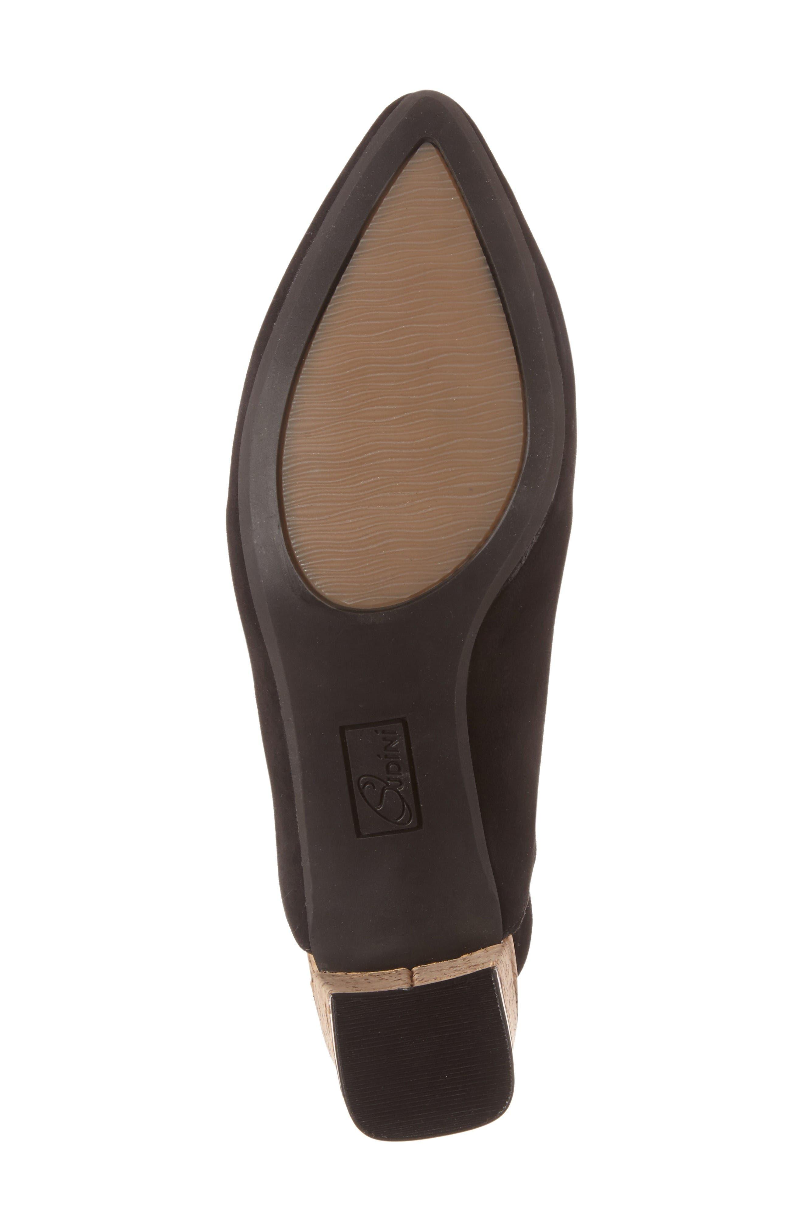 Bally Slingback Pump,                             Alternate thumbnail 4, color,                             Black Leather