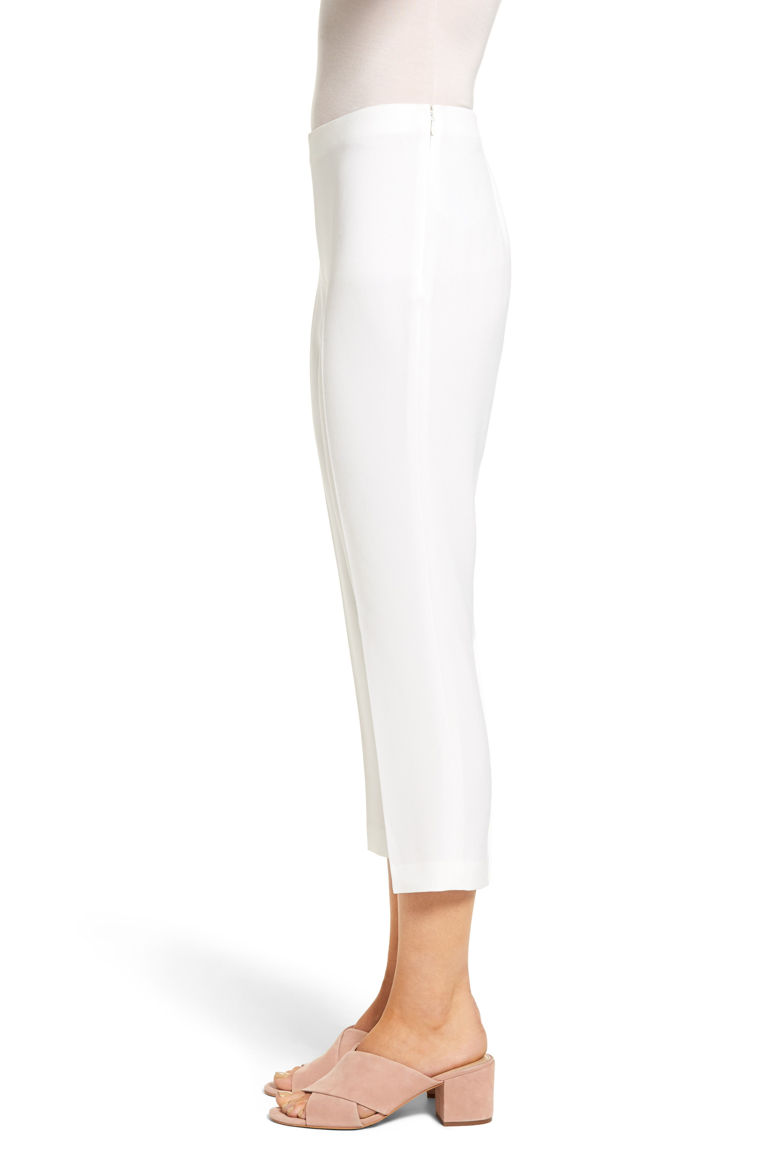 Sarah Crop Pants,                             Alternate thumbnail 3, color,                             White