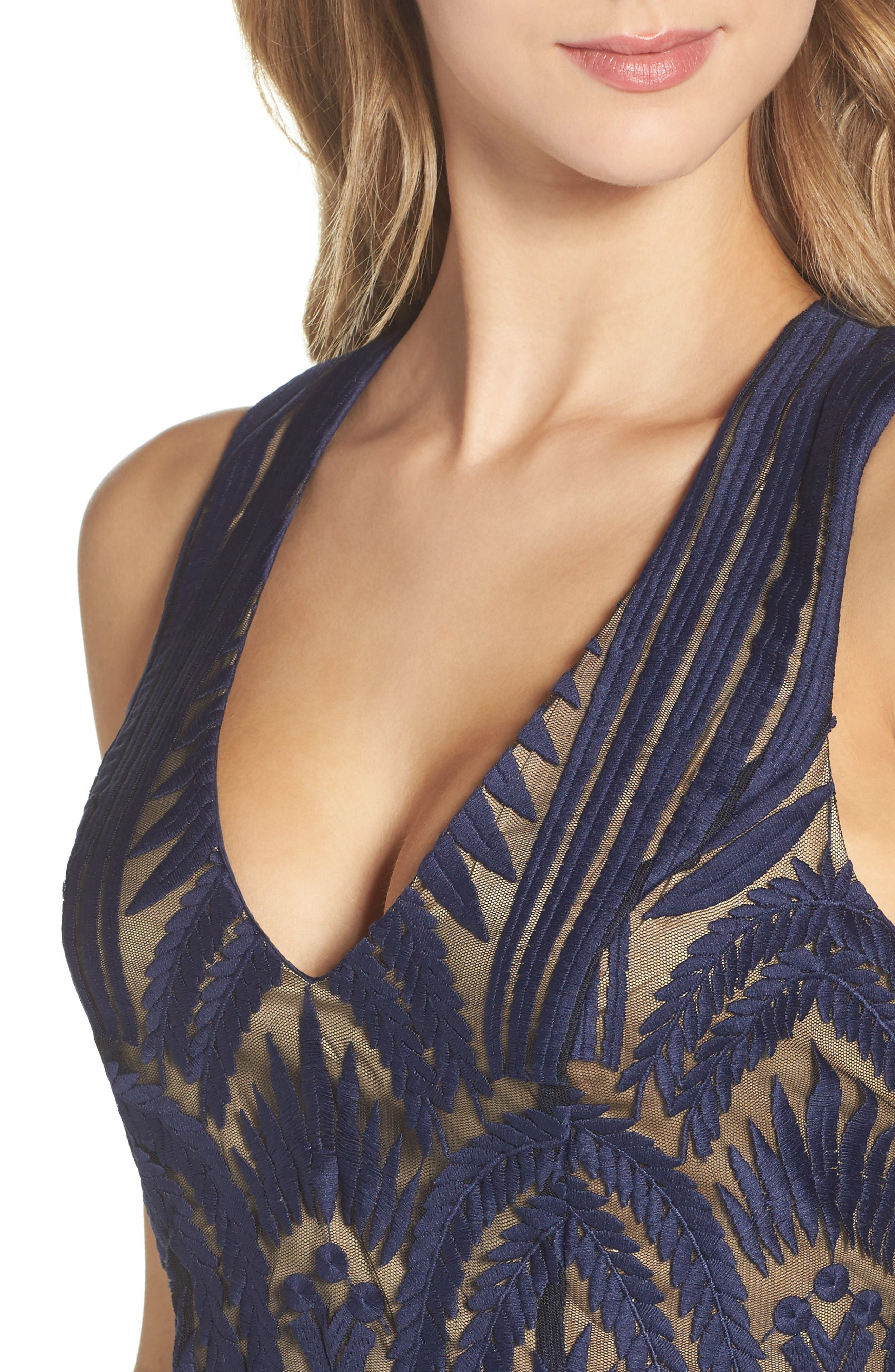 Alternate Image 4  - Bardot Embroidered Mesh Dress