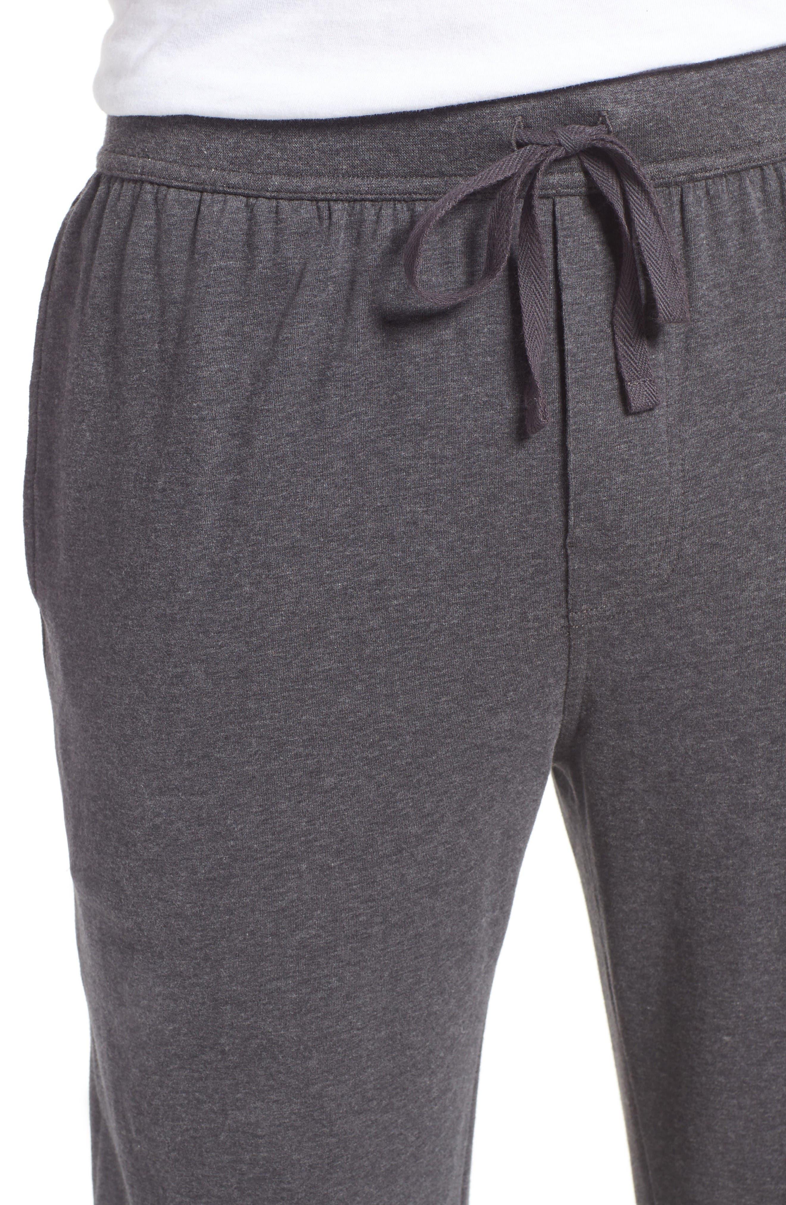 Stretch Cotton Lounge Pants,                             Alternate thumbnail 4, color,                             Grey Charcoal