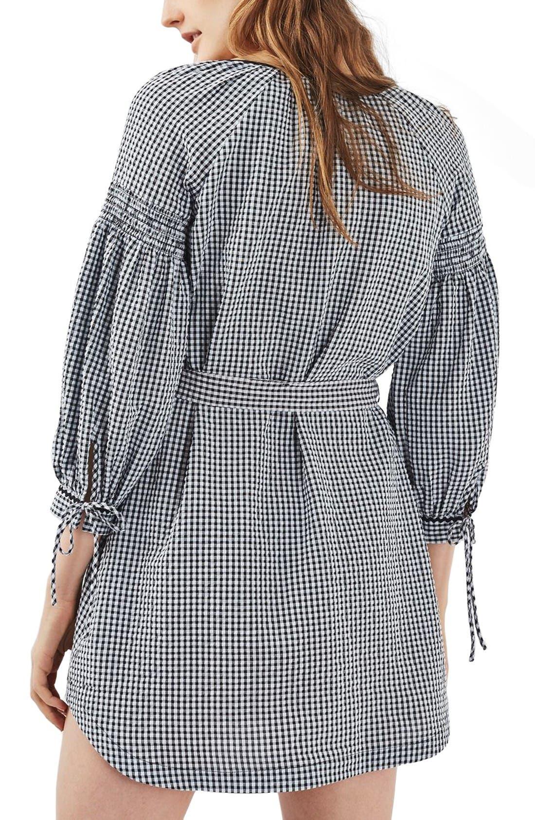Alternate Image 3  - Topshop Gingham Smock Dress