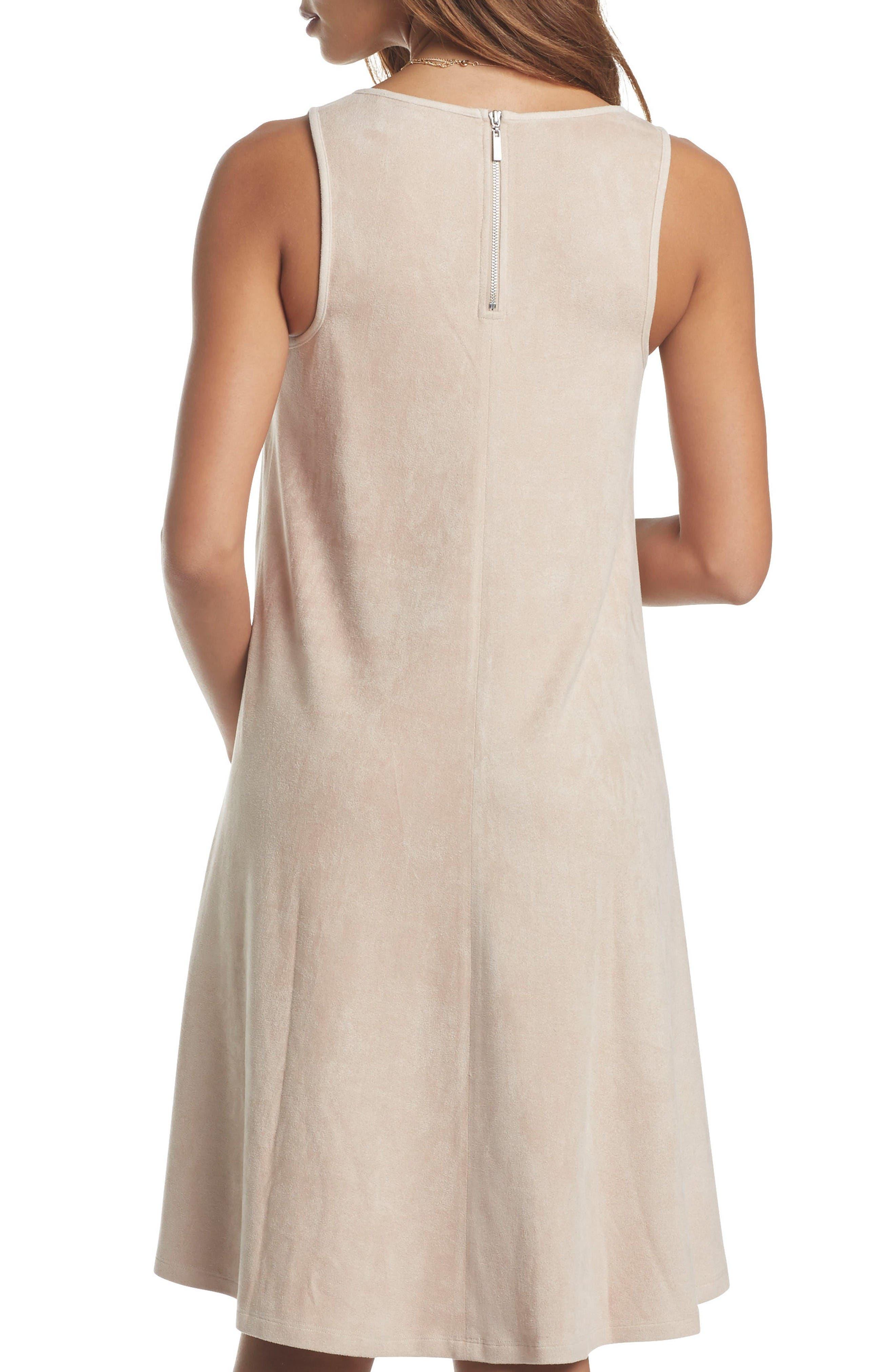 Zandra Sueded Maternity Dress,                             Alternate thumbnail 2, color,                             Almond