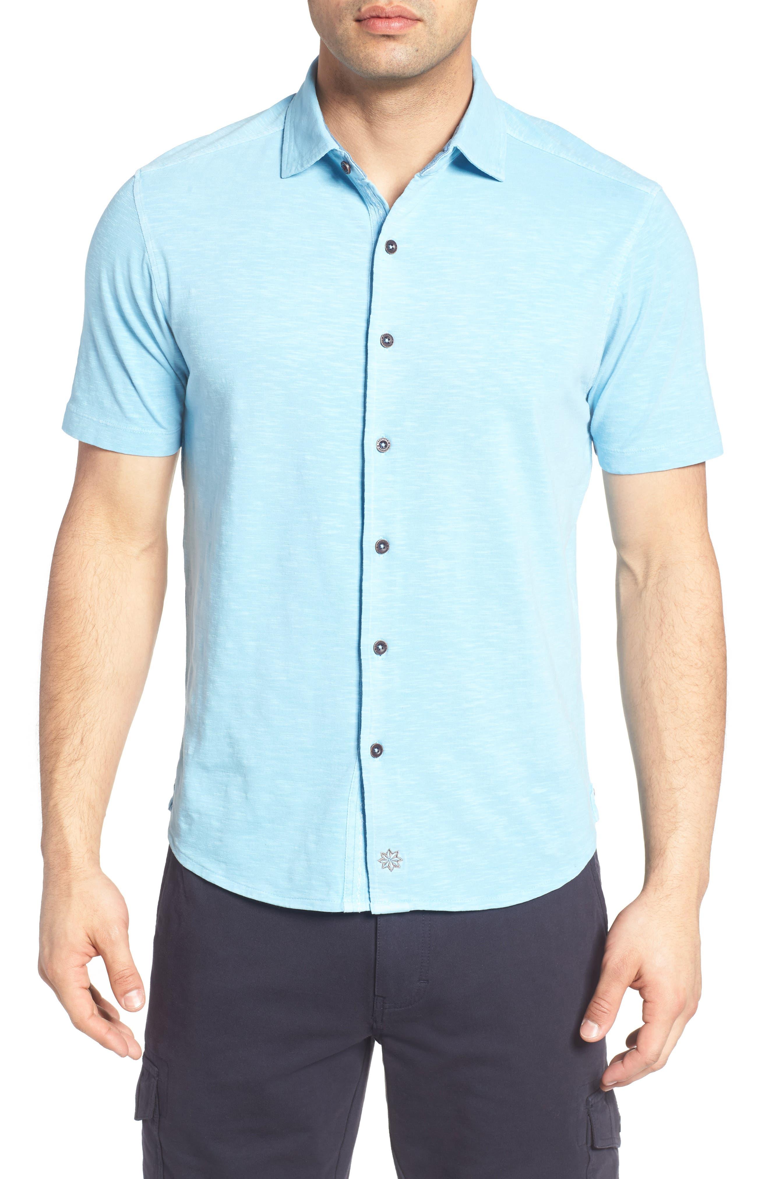 Alternate Image 1 Selected - Thaddeus McAdams Slub Jersey Sport Shirt