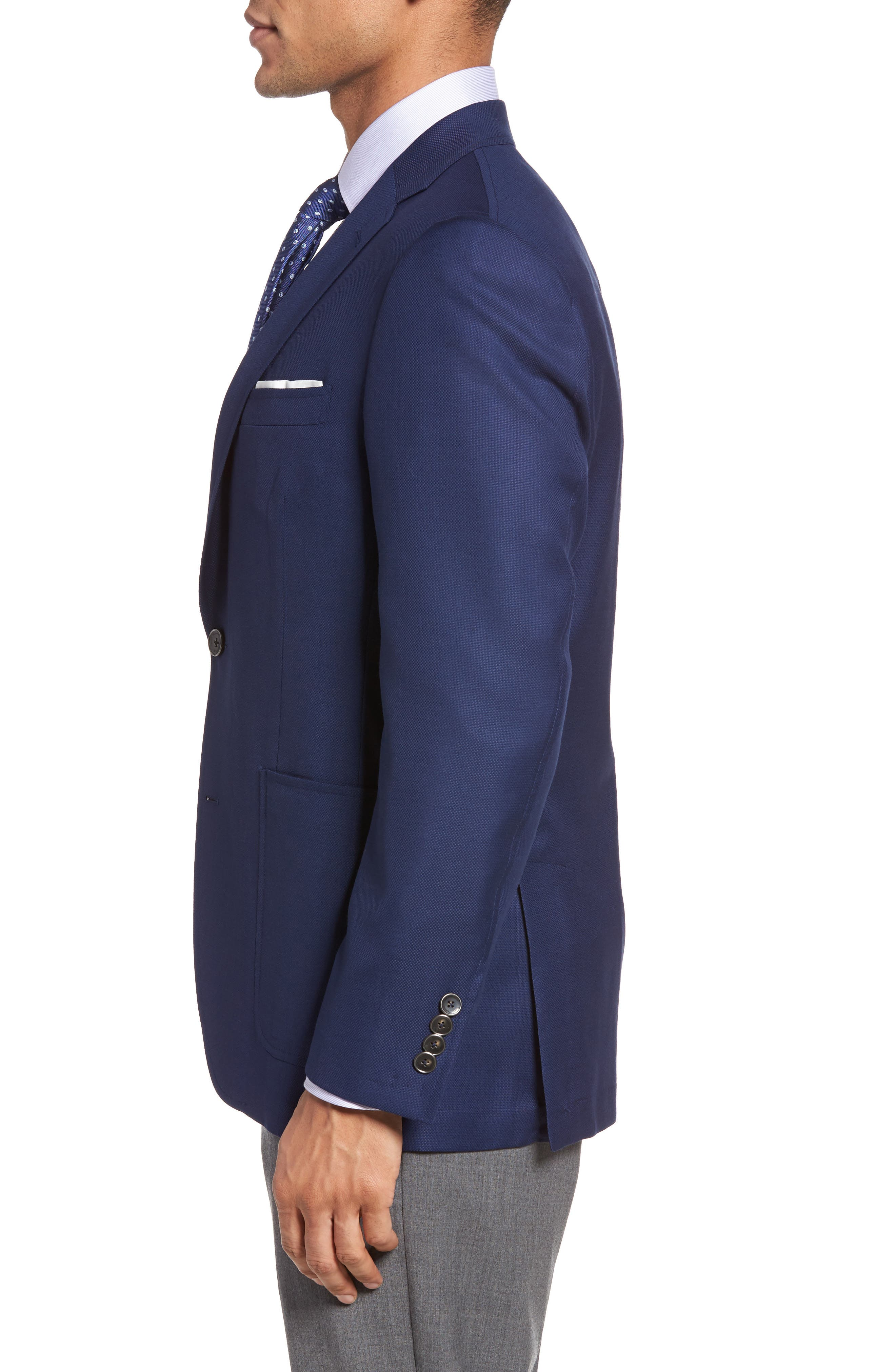 Classic B Fit Global Guardian Wool Blazer,                             Alternate thumbnail 3, color,                             Blue