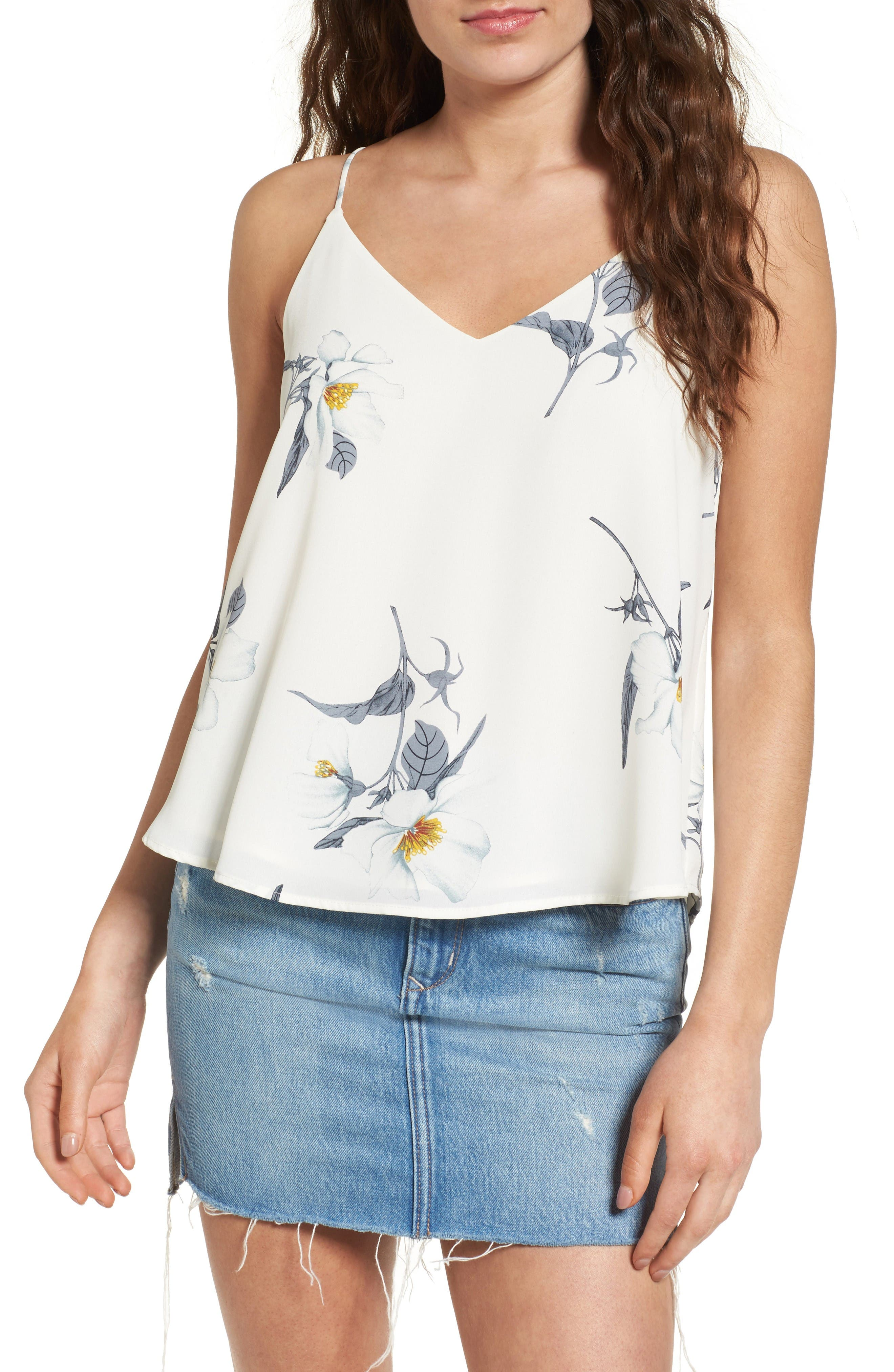 Alternate Image 1 Selected - ASTR the Label Lace-Up Camisole