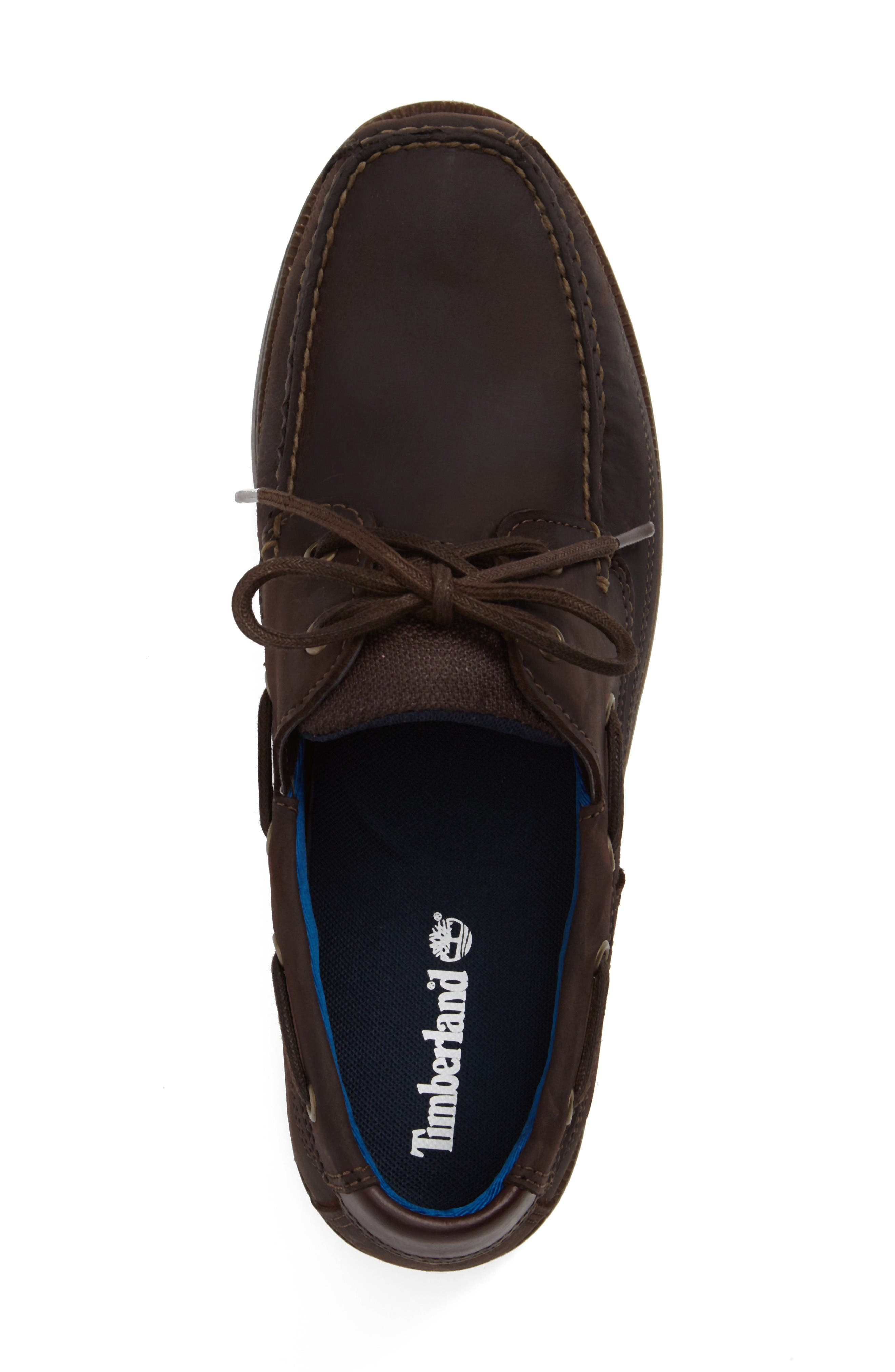 Piper Cove FG Boat Shoe,                             Alternate thumbnail 3, color,                             Chocolate Leather