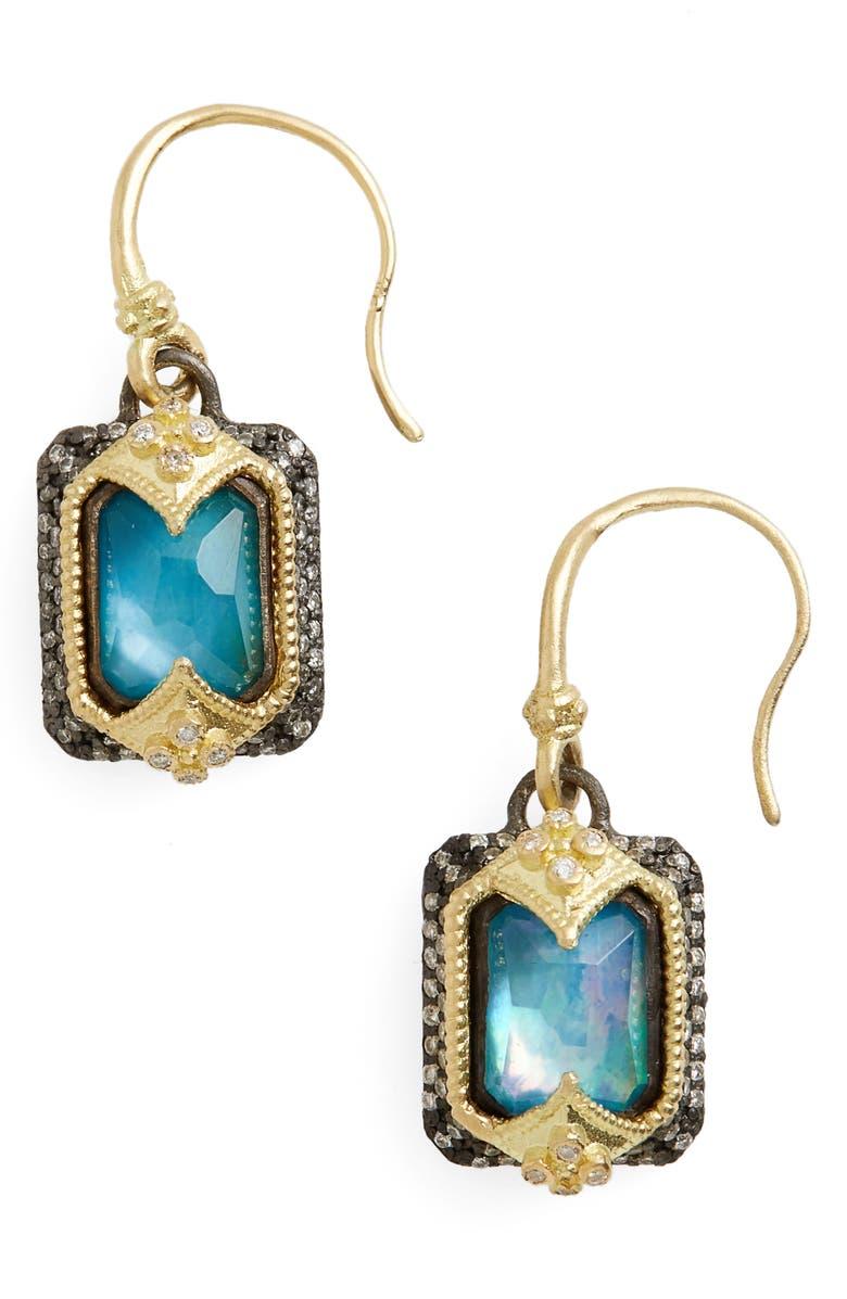 Armenta OLD WORLD OPAL & DIAMOND DROP EARRINGS