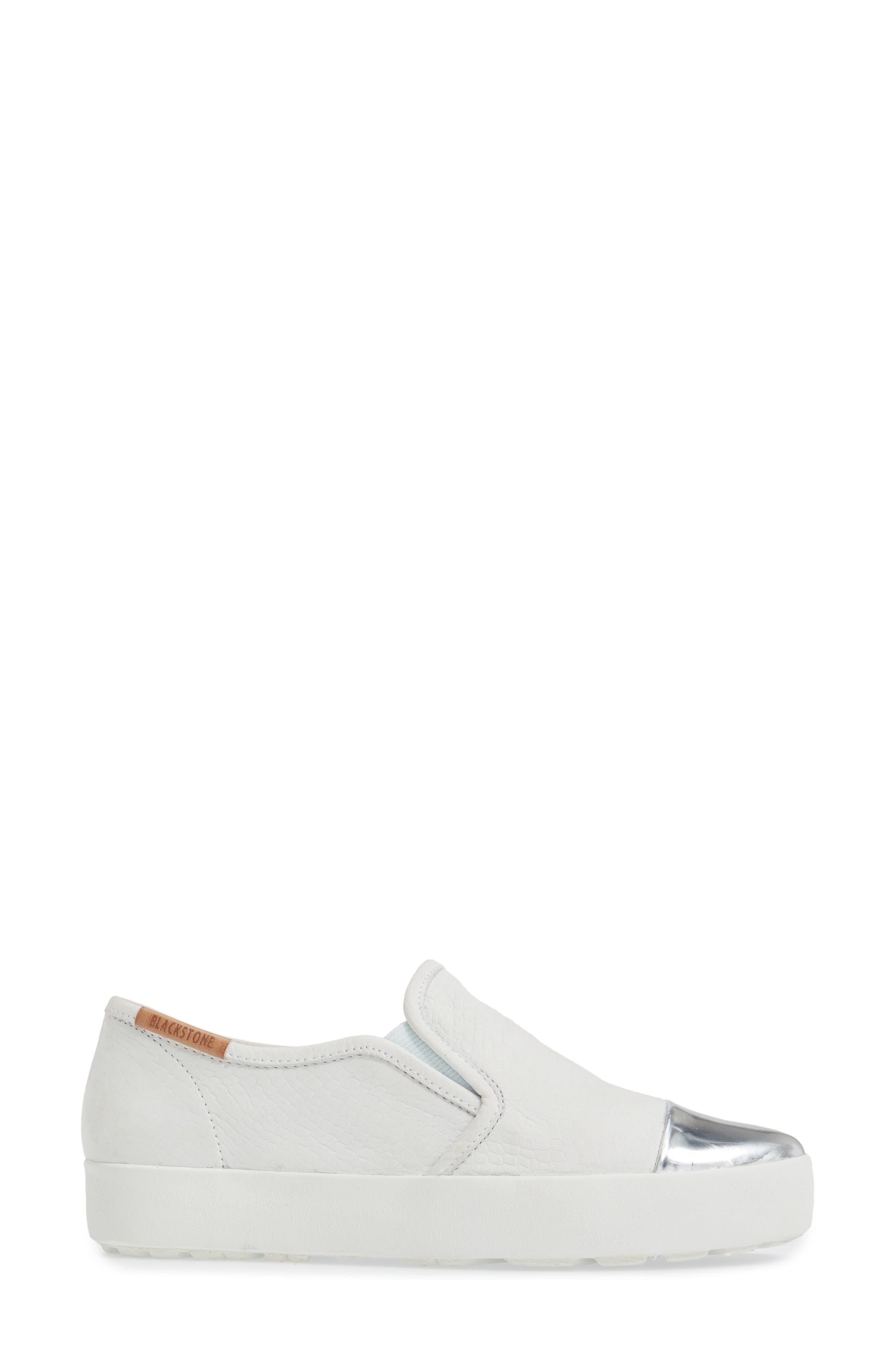 NL47 Slip-On Sneaker,                             Alternate thumbnail 3, color,                             White Nubuck