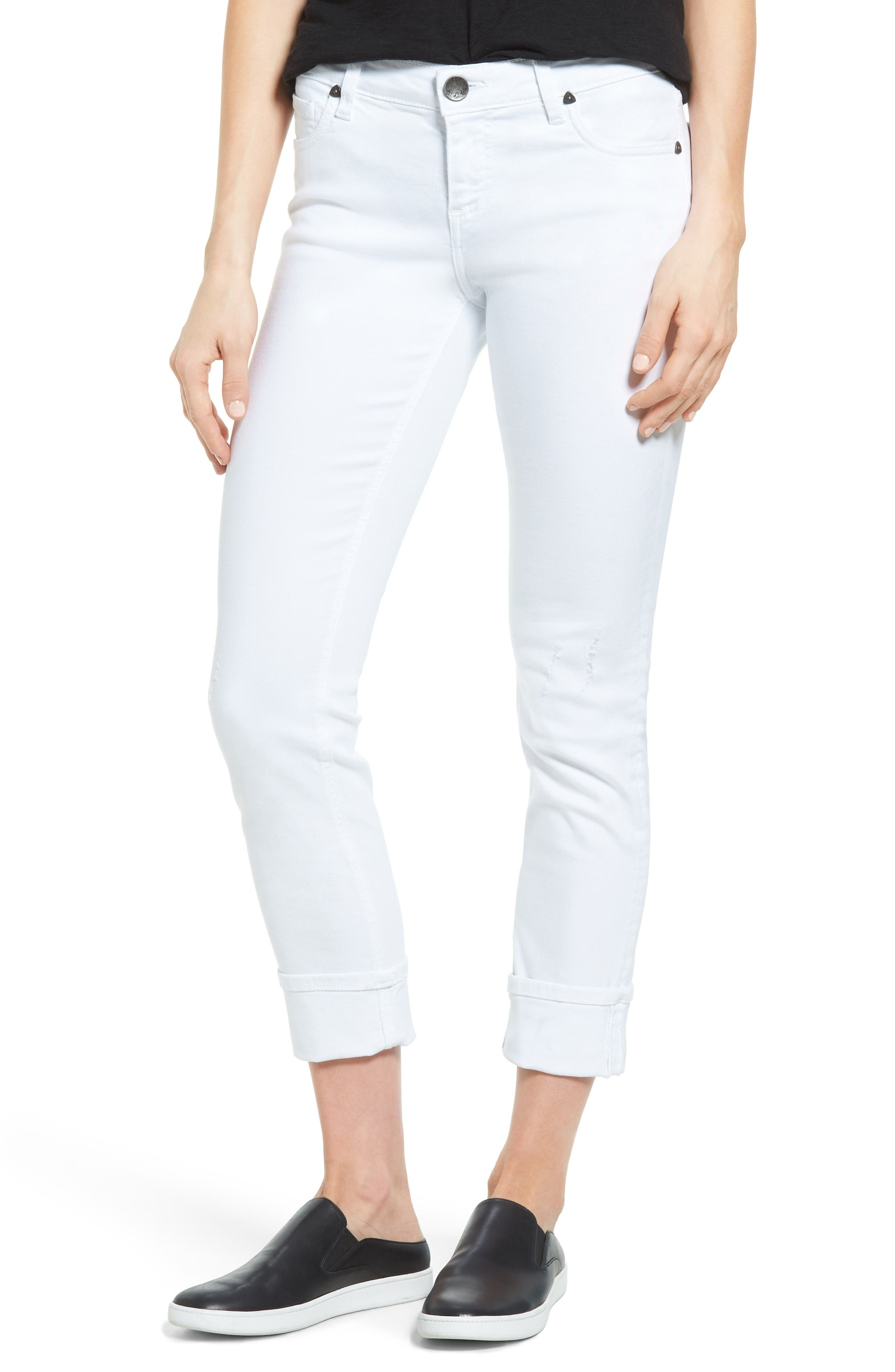 KUT from the Kloth Catherine Wide Cuff Boyfriend Jeans