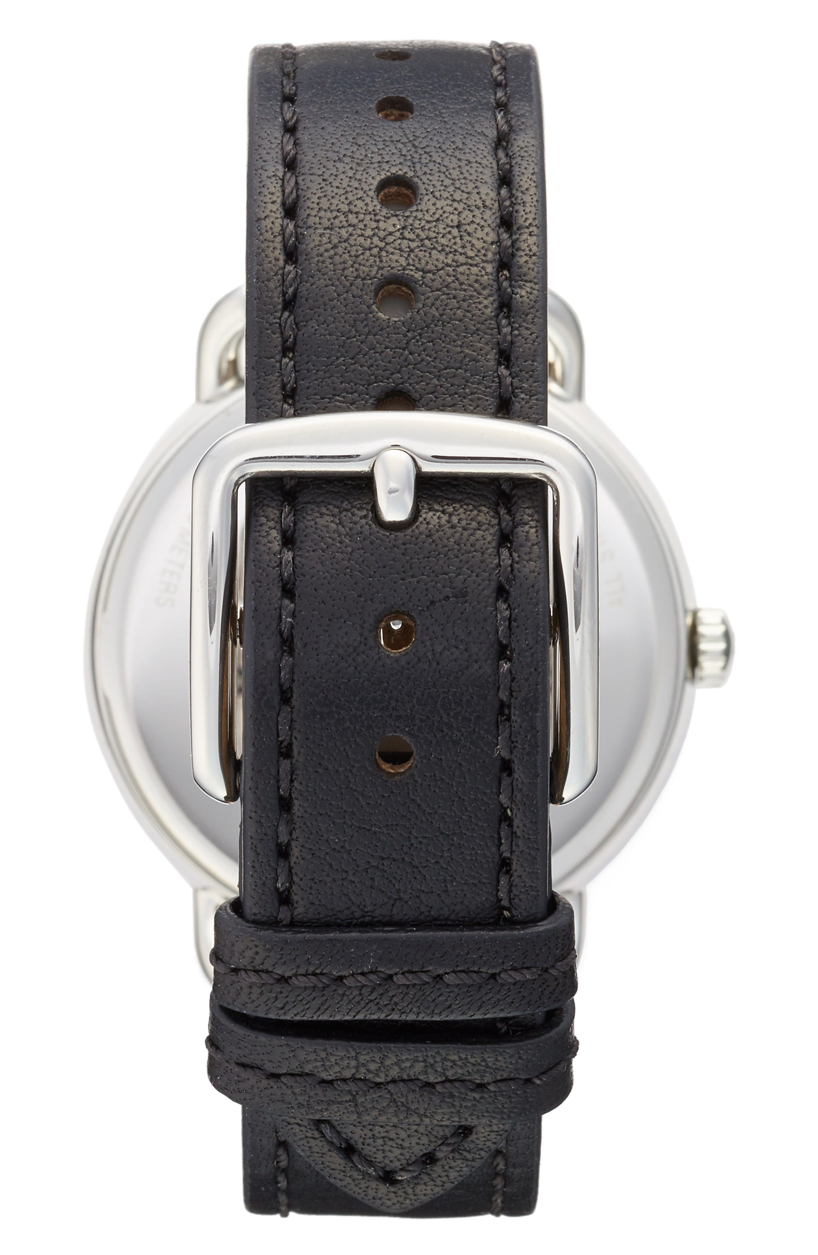 Alternate Image 2  - COACH Delancey Leather Strap Watch, 36mm
