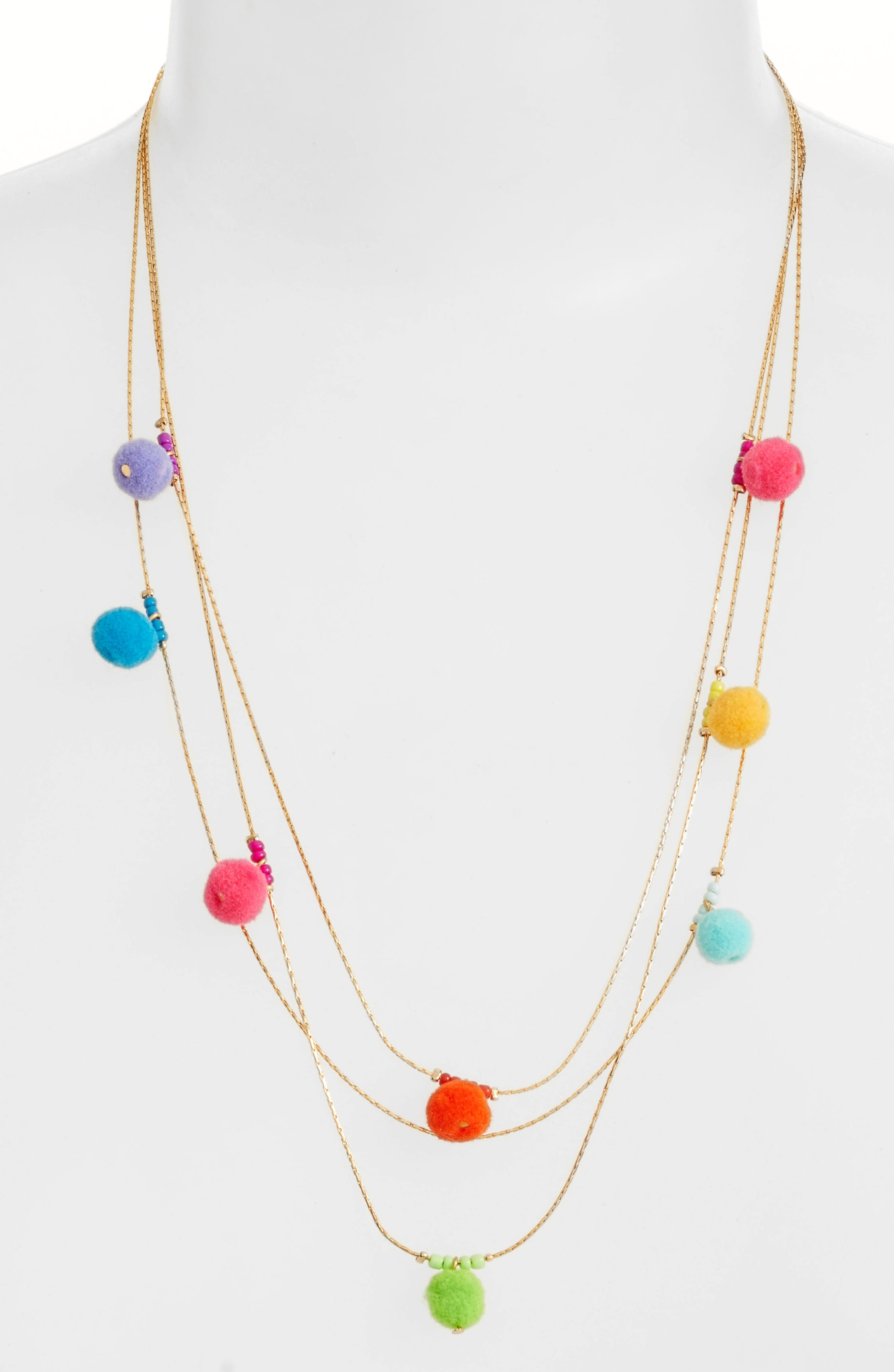 Alternate Image 1 Selected - Rebecca Minkoff Savanna Pompom Necklace