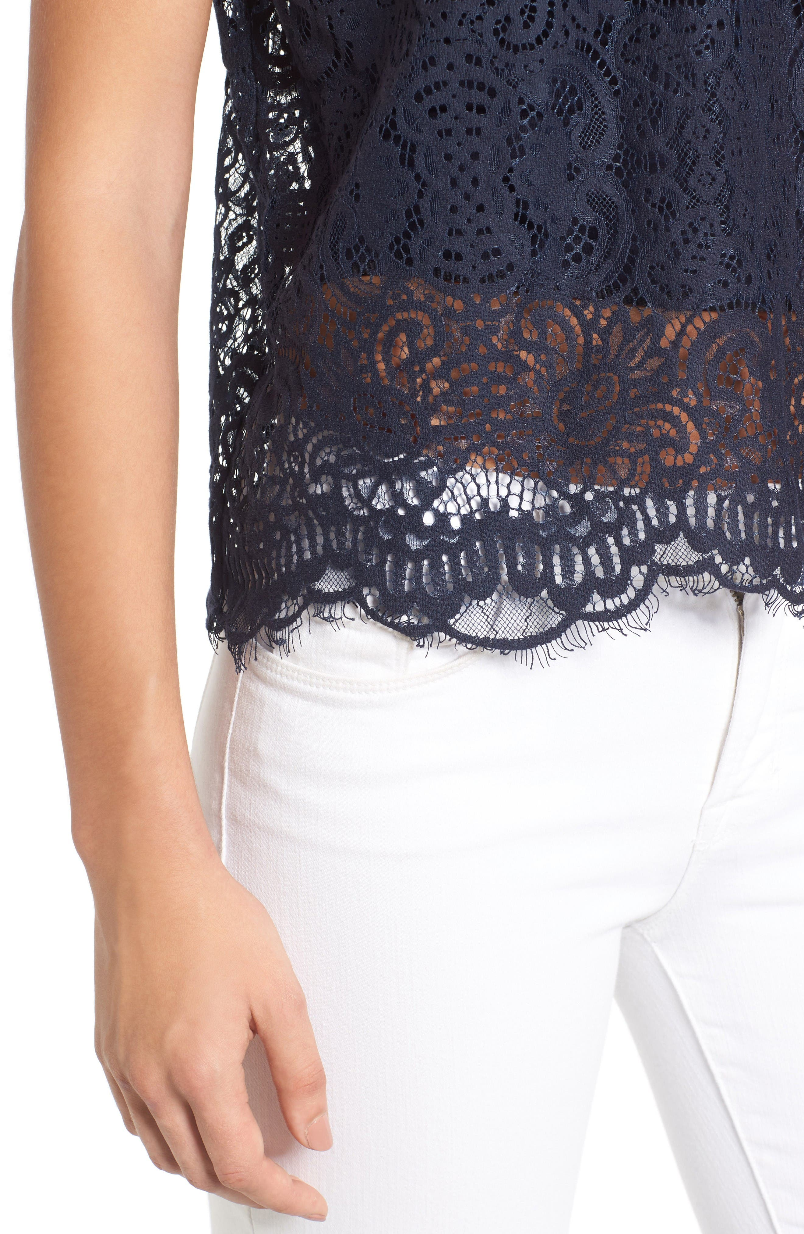 Alternate Image 5  - Chelsea28 Strapless Lace Top