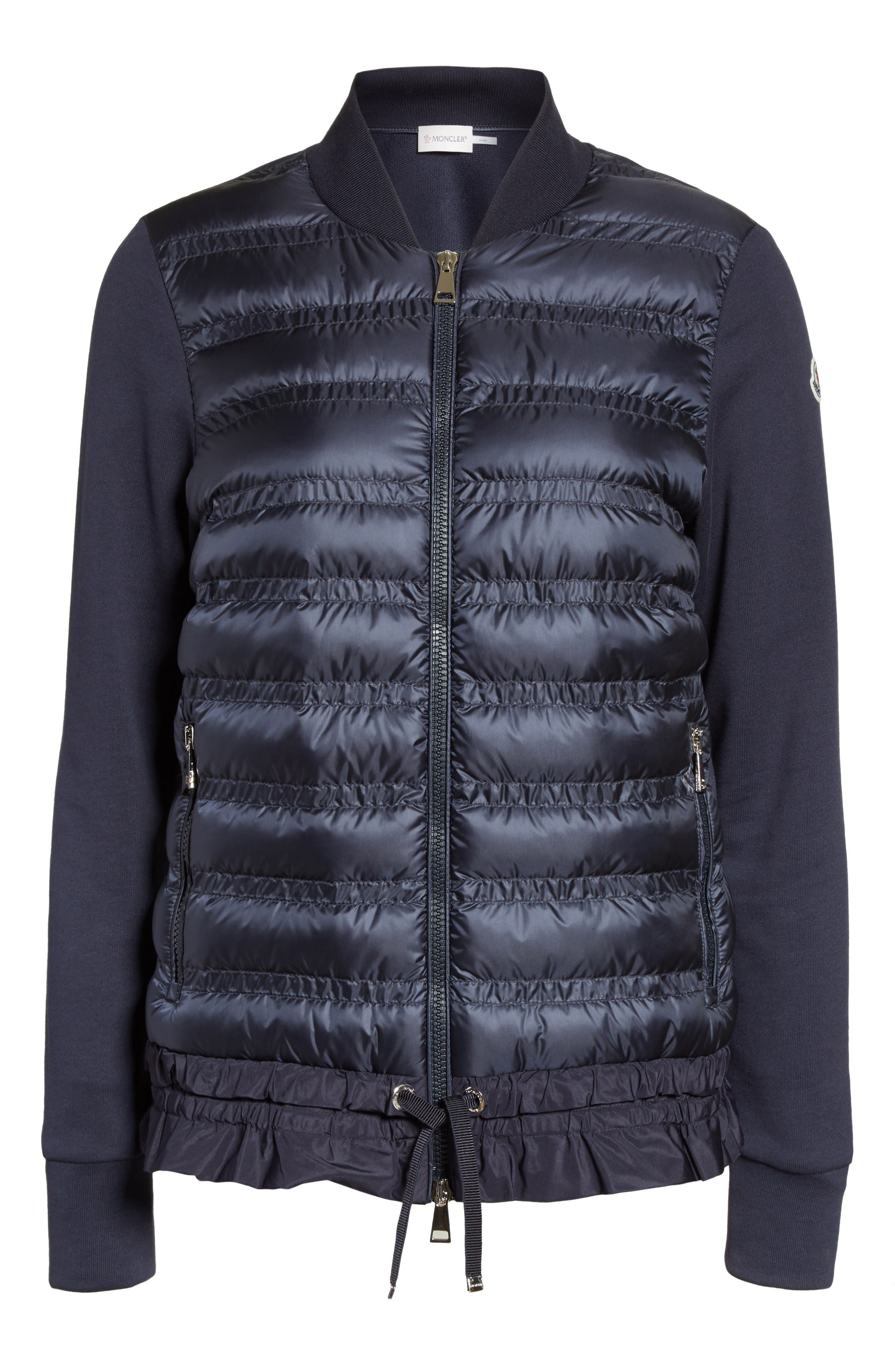 Alternate Image 4  - Moncler Maglia Quilted Down Front Tricot Bomber