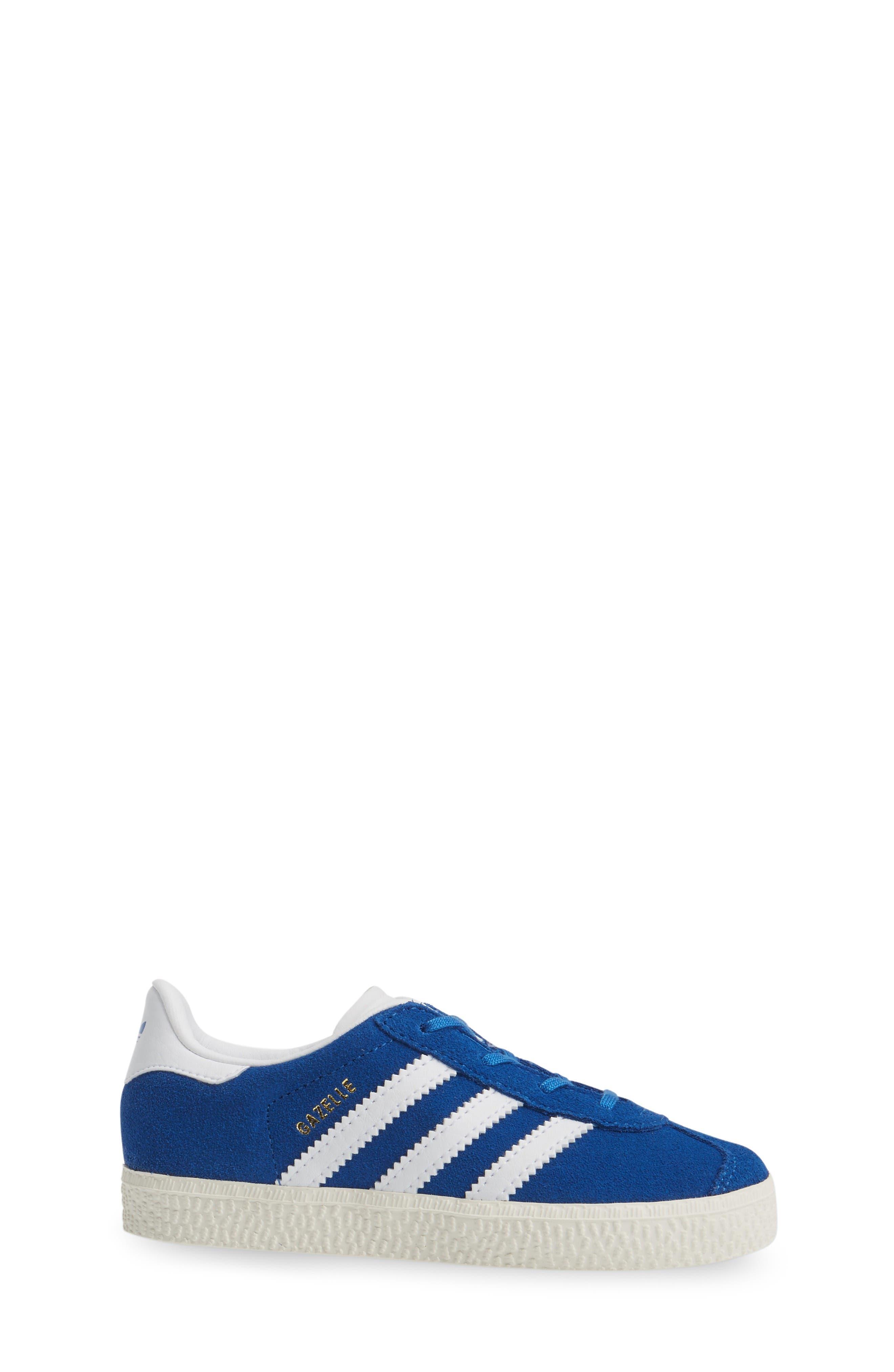 Gazelle Sneaker,                             Alternate thumbnail 3, color,                             Blue/ White/ Gold Metallic