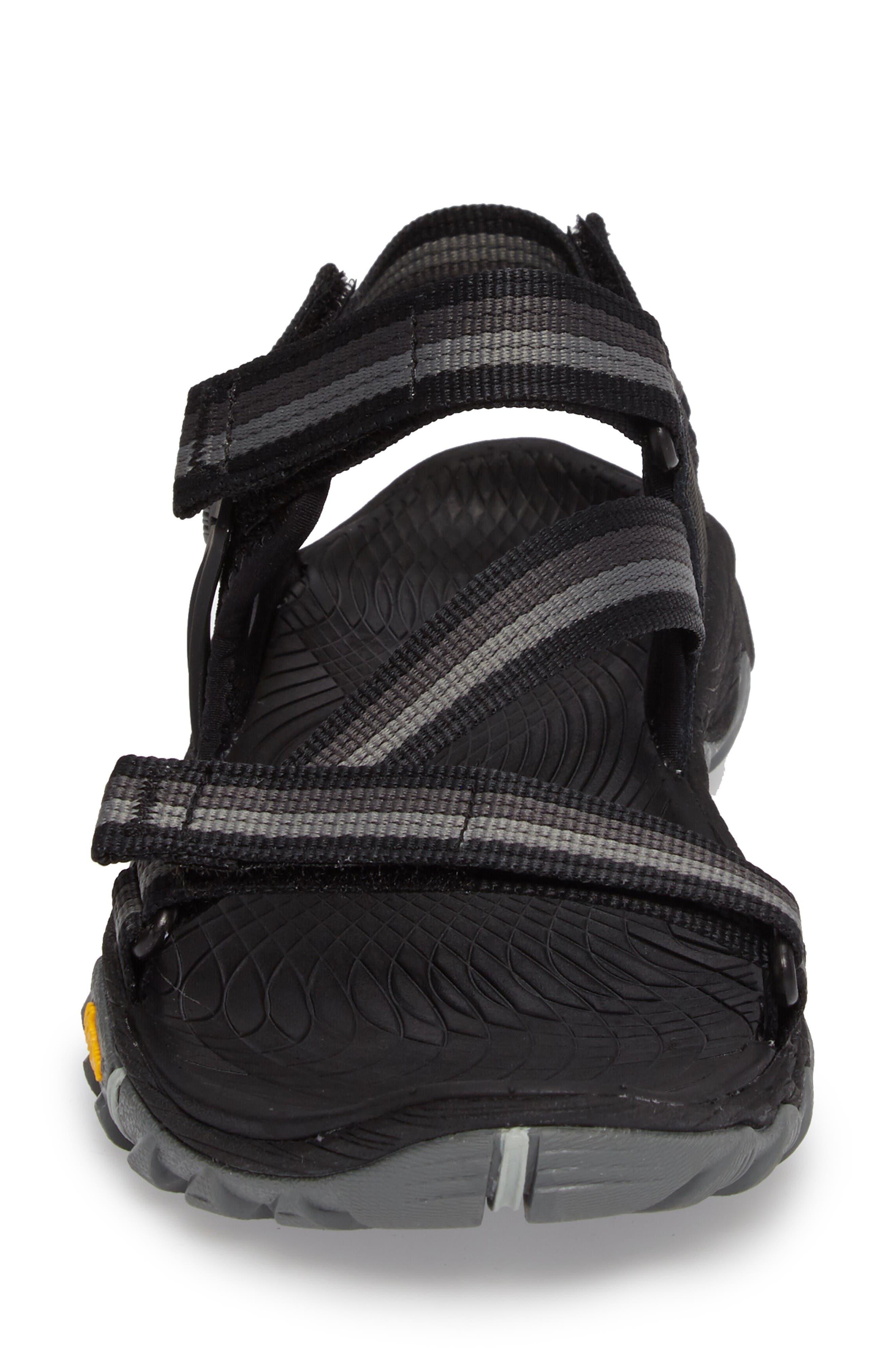 All Out Blaze Sport Sandal,                             Alternate thumbnail 4, color,                             Black Fabric