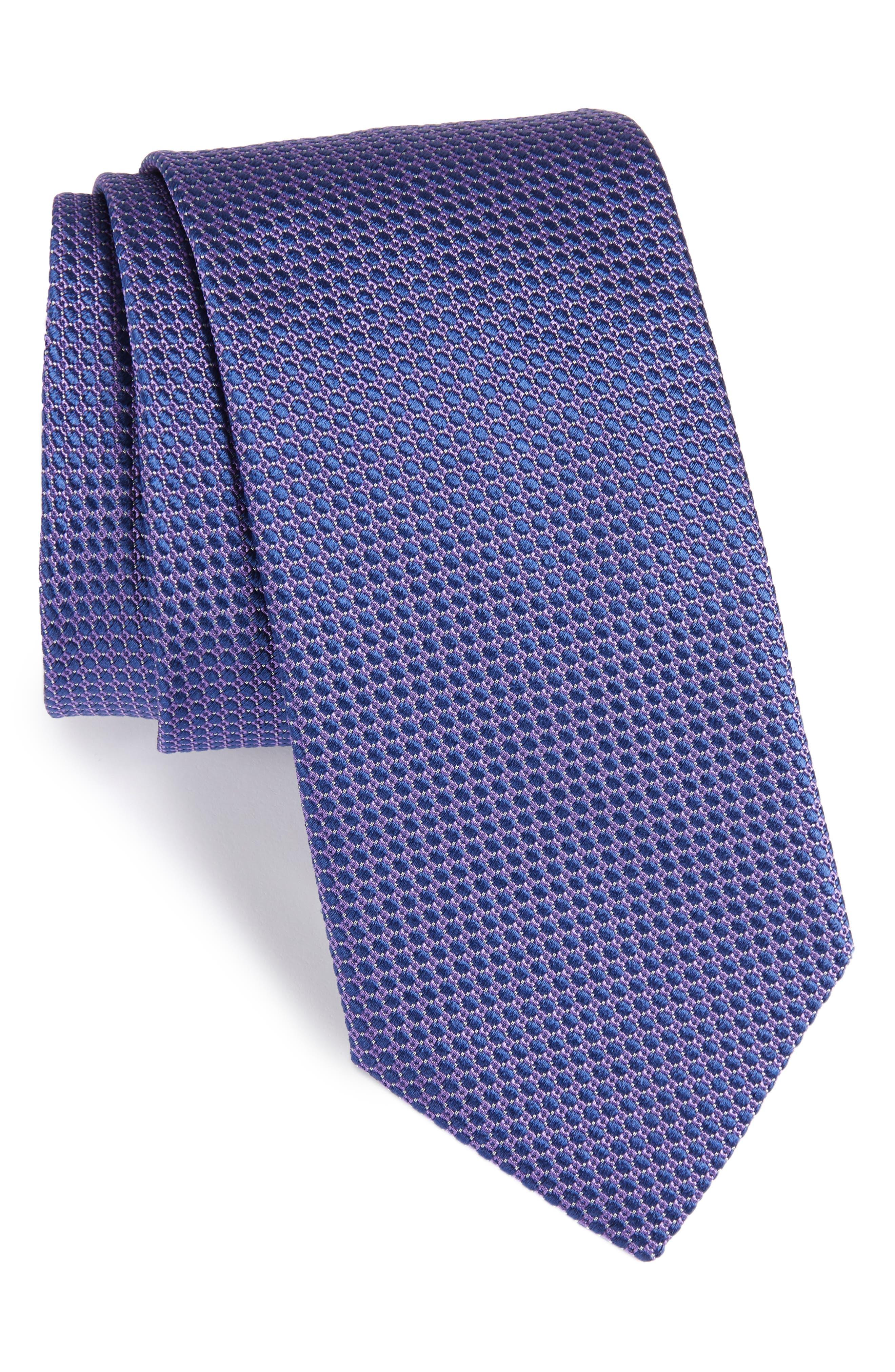 Circle Geometric Silk Tie,                         Main,                         color, Purple