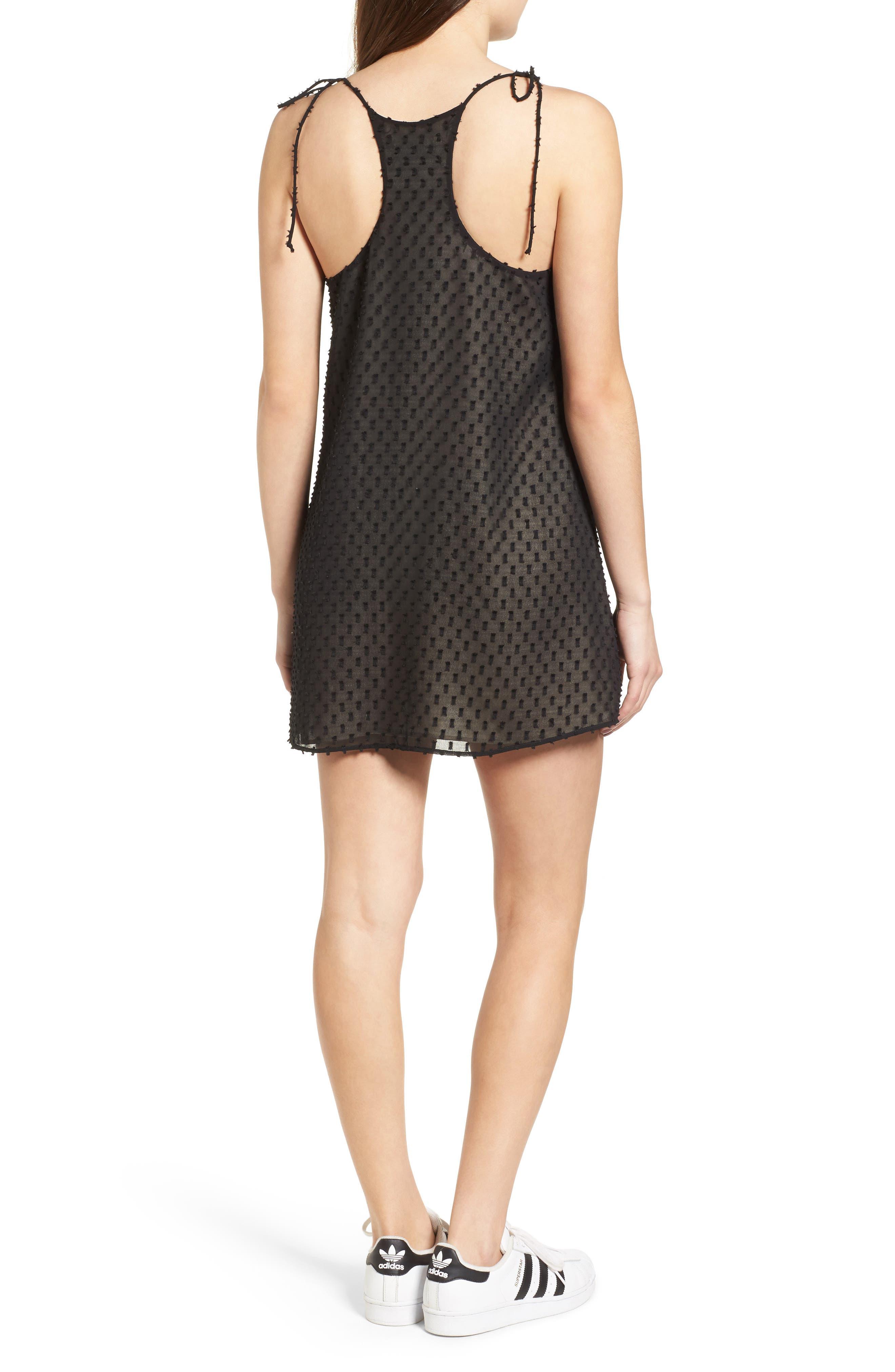 Alyssa Minidress,                             Alternate thumbnail 2, color,                             Black