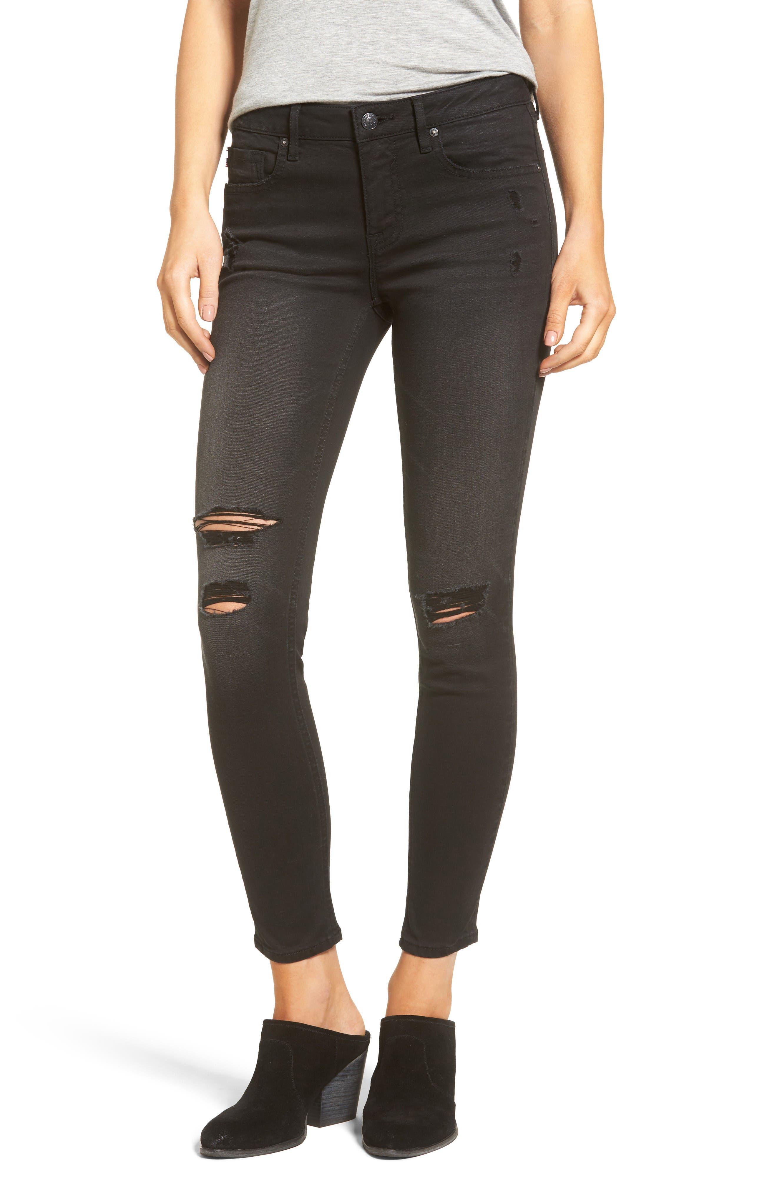 Main Image - Vigoss Chelsea Ripped Skinny Jeans