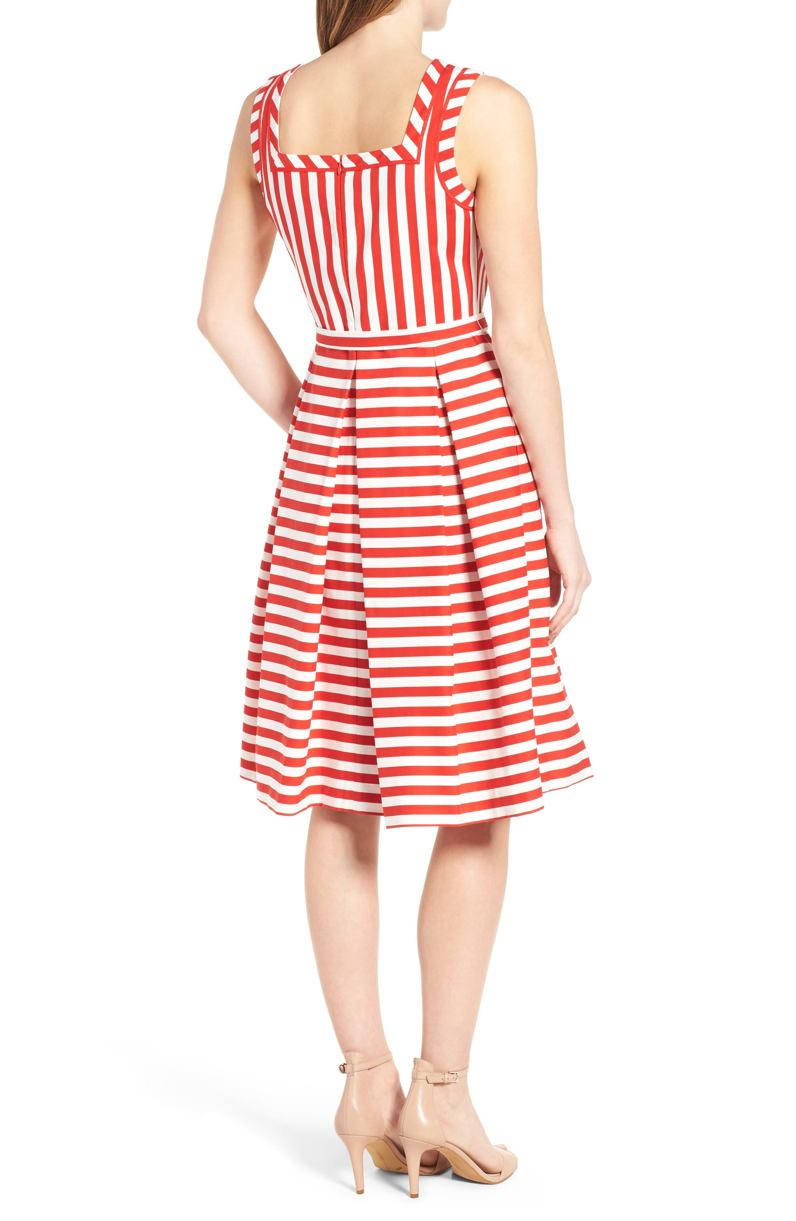Alternate Image 2  - Anne Klein Stripe Fit & Flare Dress