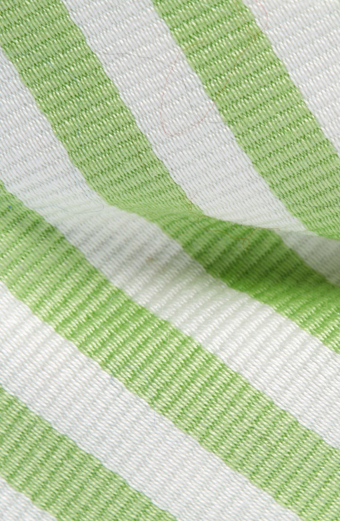 Stripe Cotton & Silk Bow Tie,                             Alternate thumbnail 2, color,                             Green Stripe