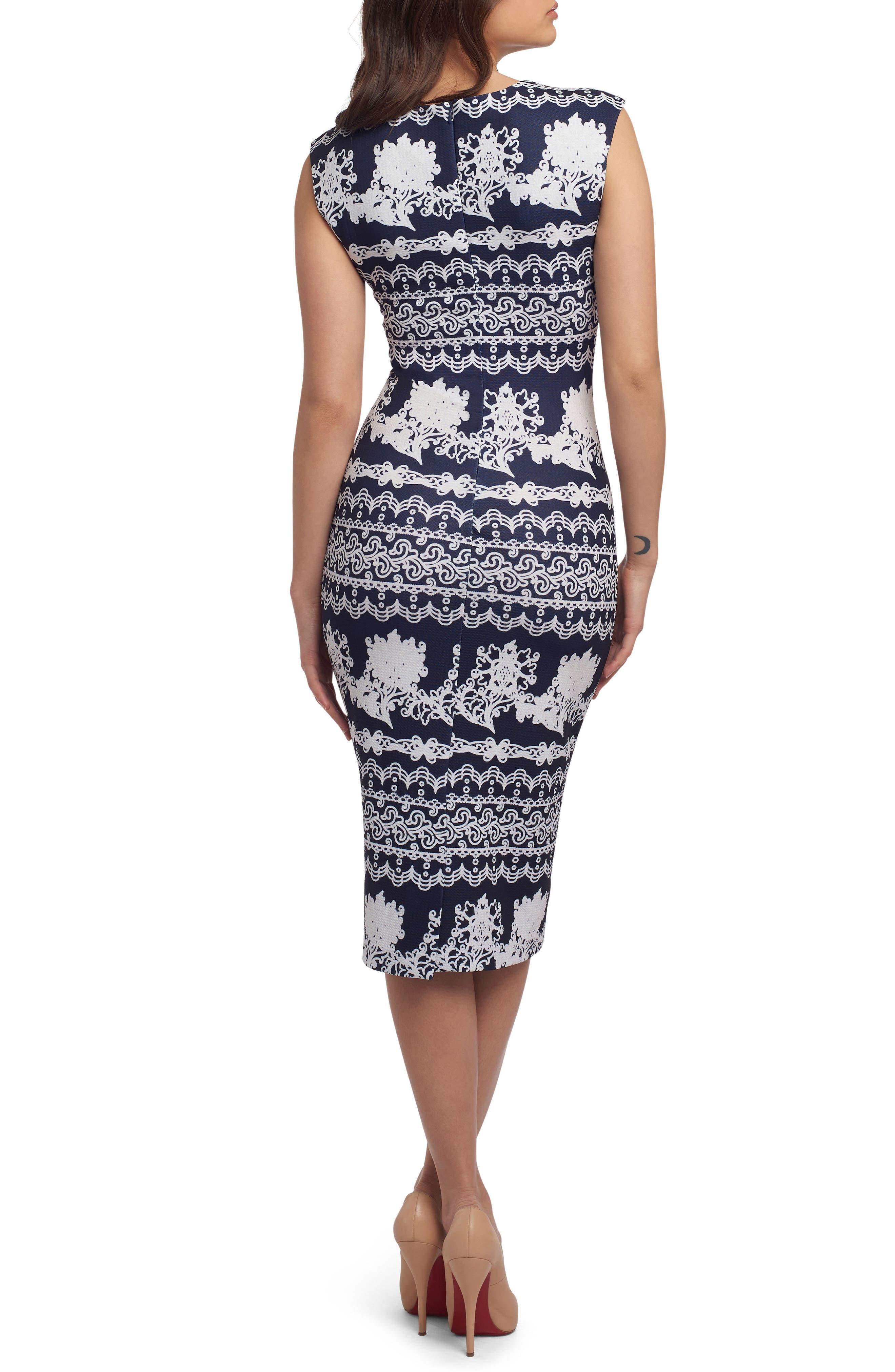 Alternate Image 2  - ECI Print Scuba Sheath Dress