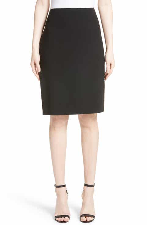 St. John Collection Crepe Marocain Pencil Skirt