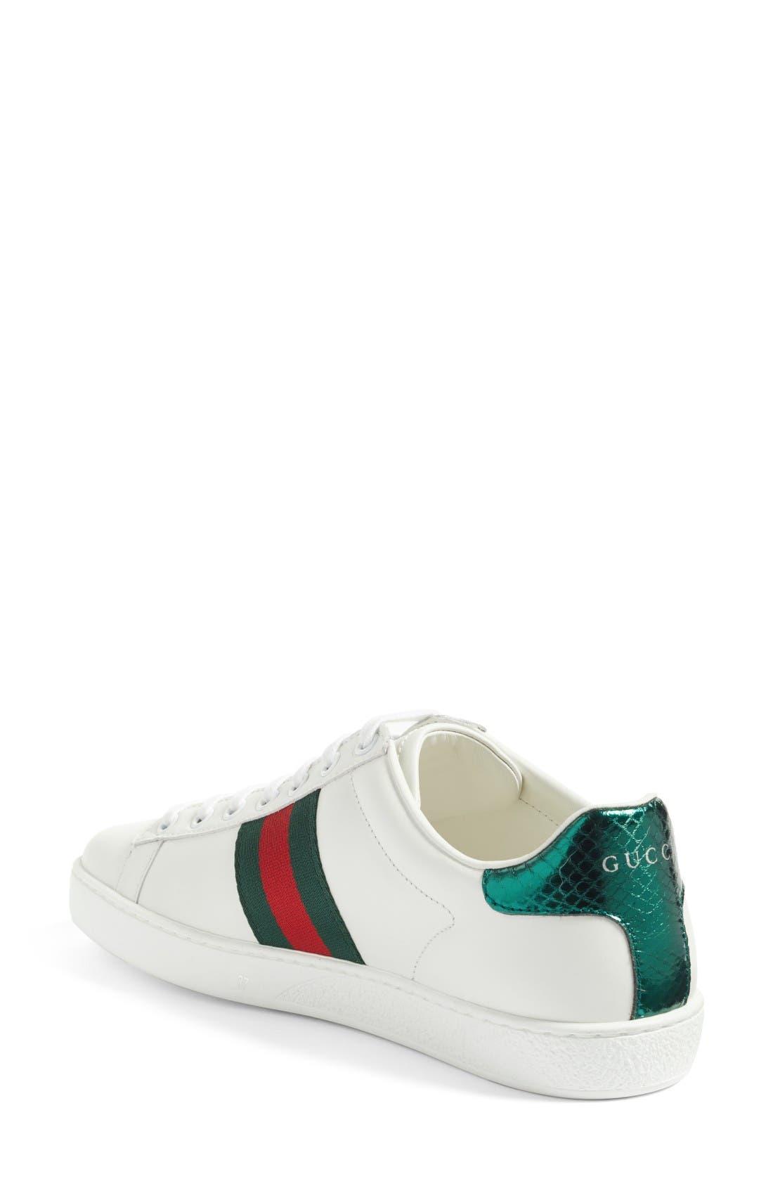 New Ace Pierced Heart Sneaker,                             Alternate thumbnail 2, color,                             White Multi