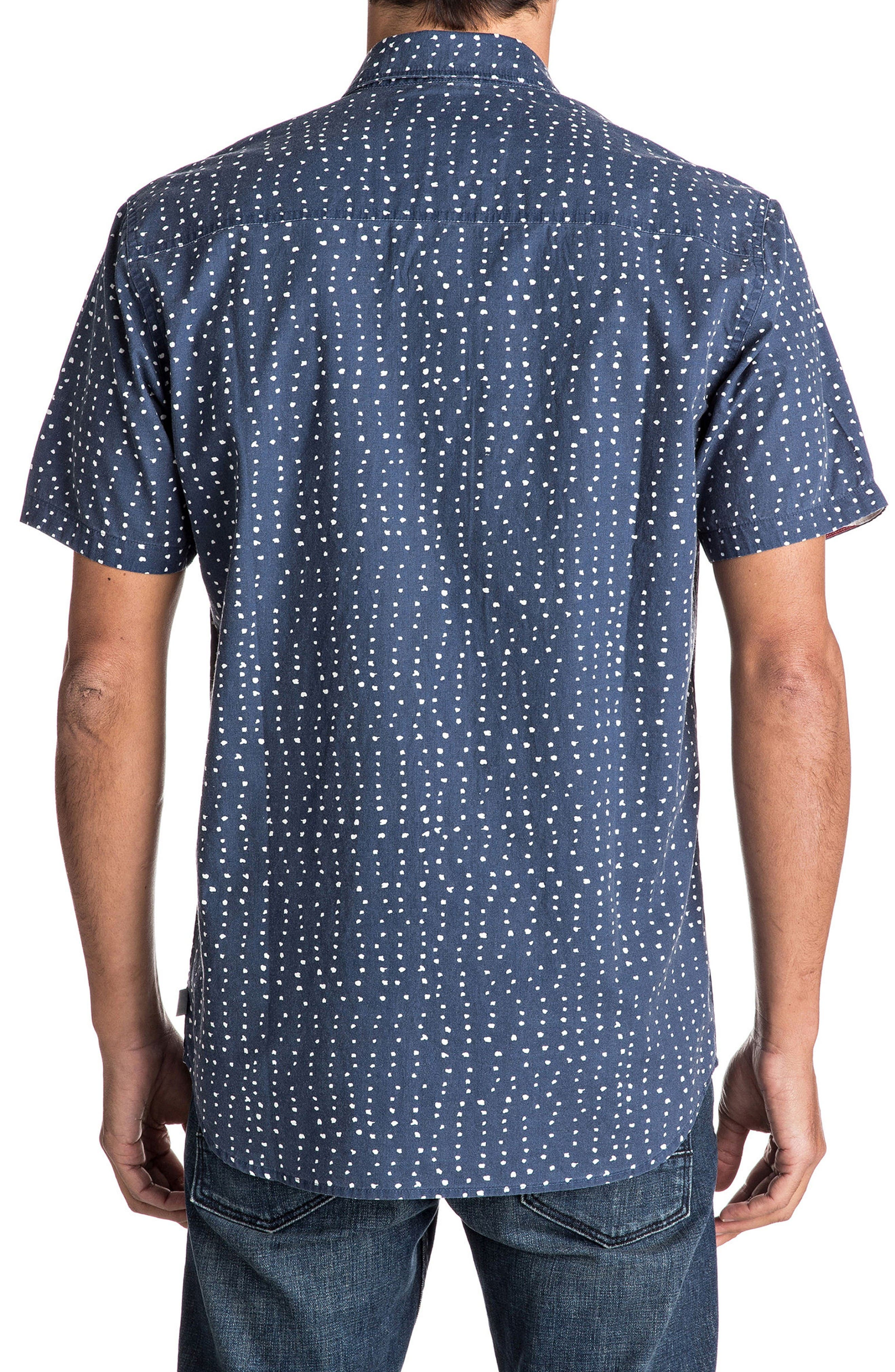 New Merica Print Shirt,                             Alternate thumbnail 2, color,                             Dark Denim Spaced