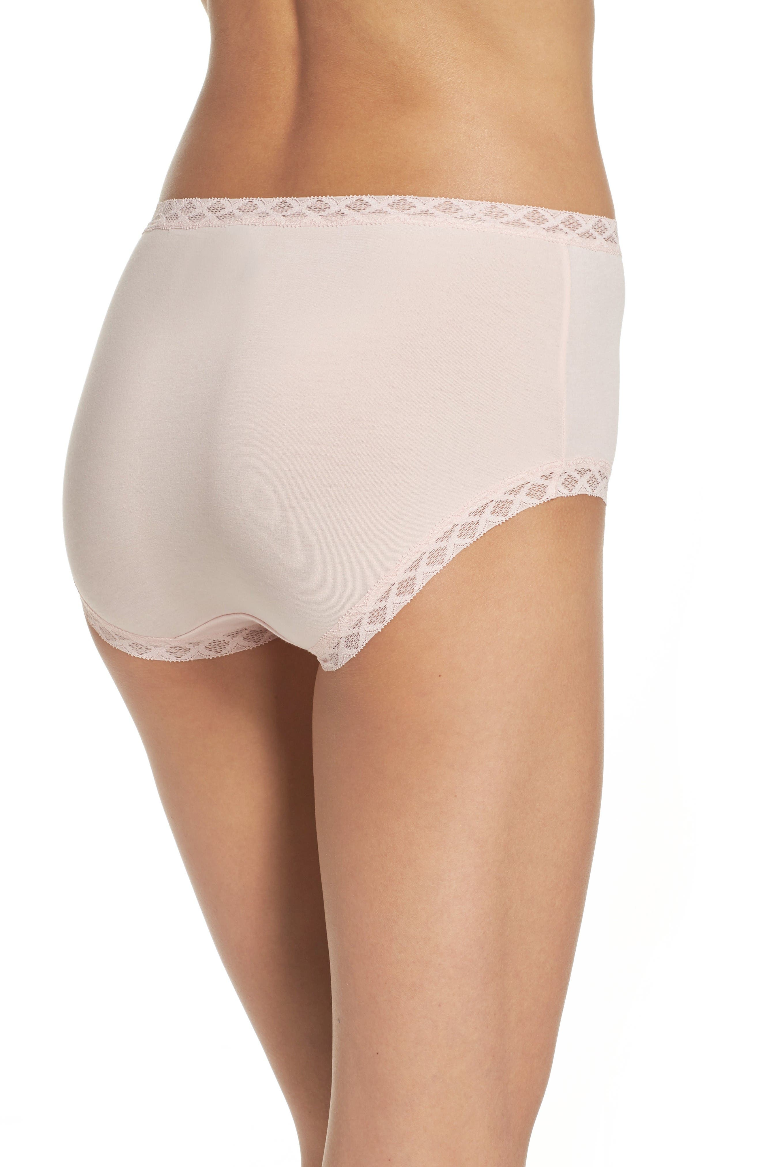 Alternate Image 2  - Natori Bliss Cotton Full Brief (3 for $45)