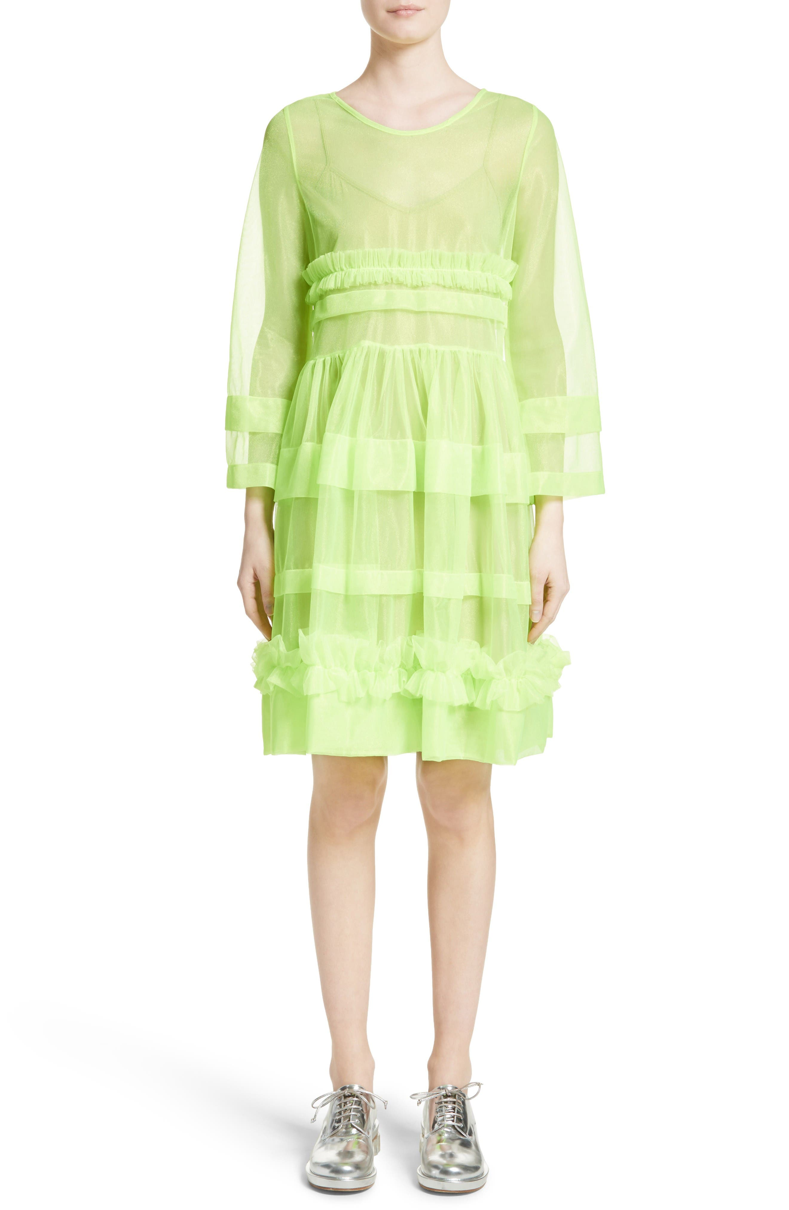 Patty Dress,                         Main,                         color, Neon Green