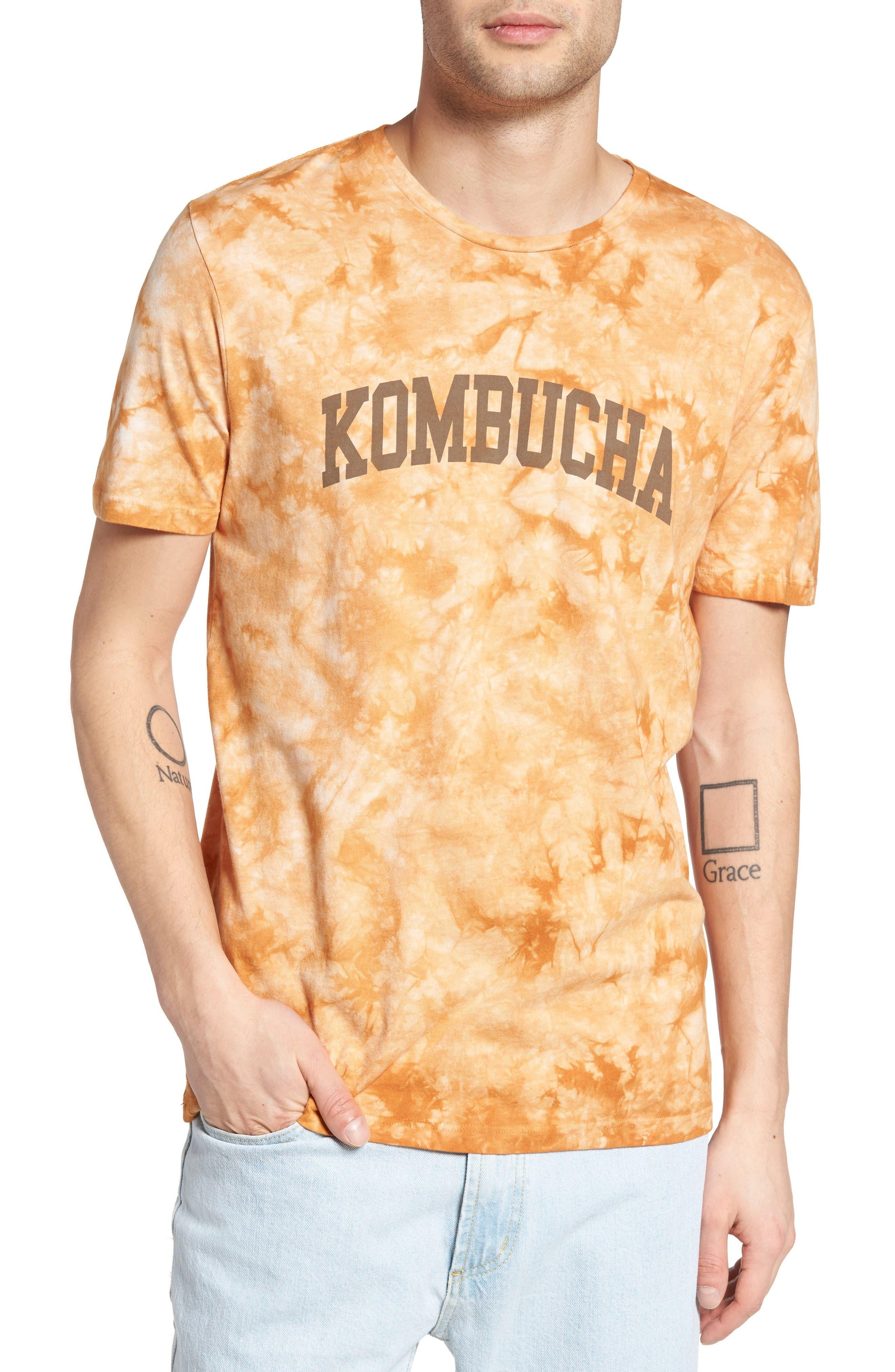 Tie Dye Kombucha Graphic T-Shirt,                         Main,                         color, Cloud Desert Sand