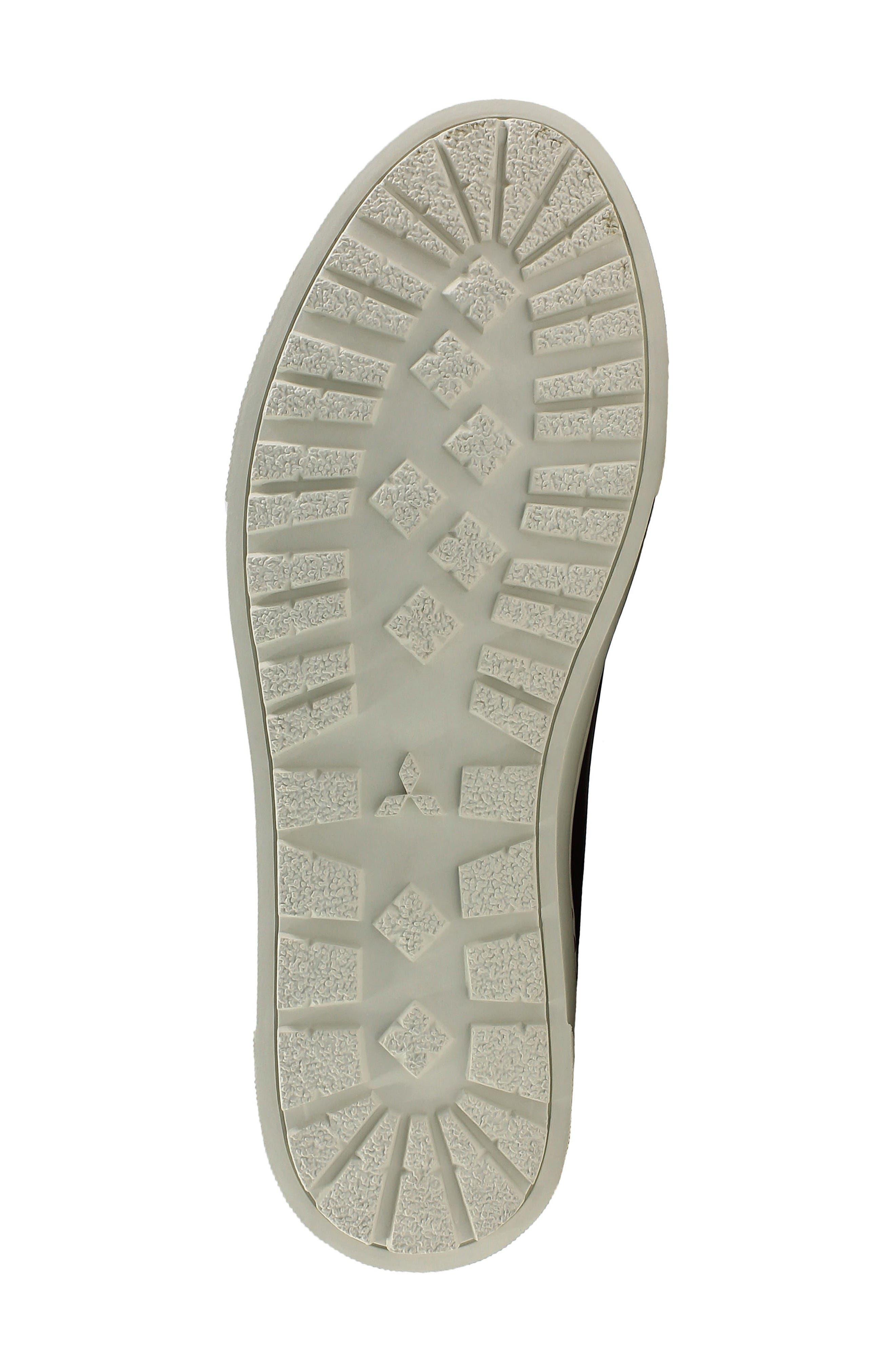 Forward Lo Sneaker,                             Alternate thumbnail 4, color,                             Black/ White Leather