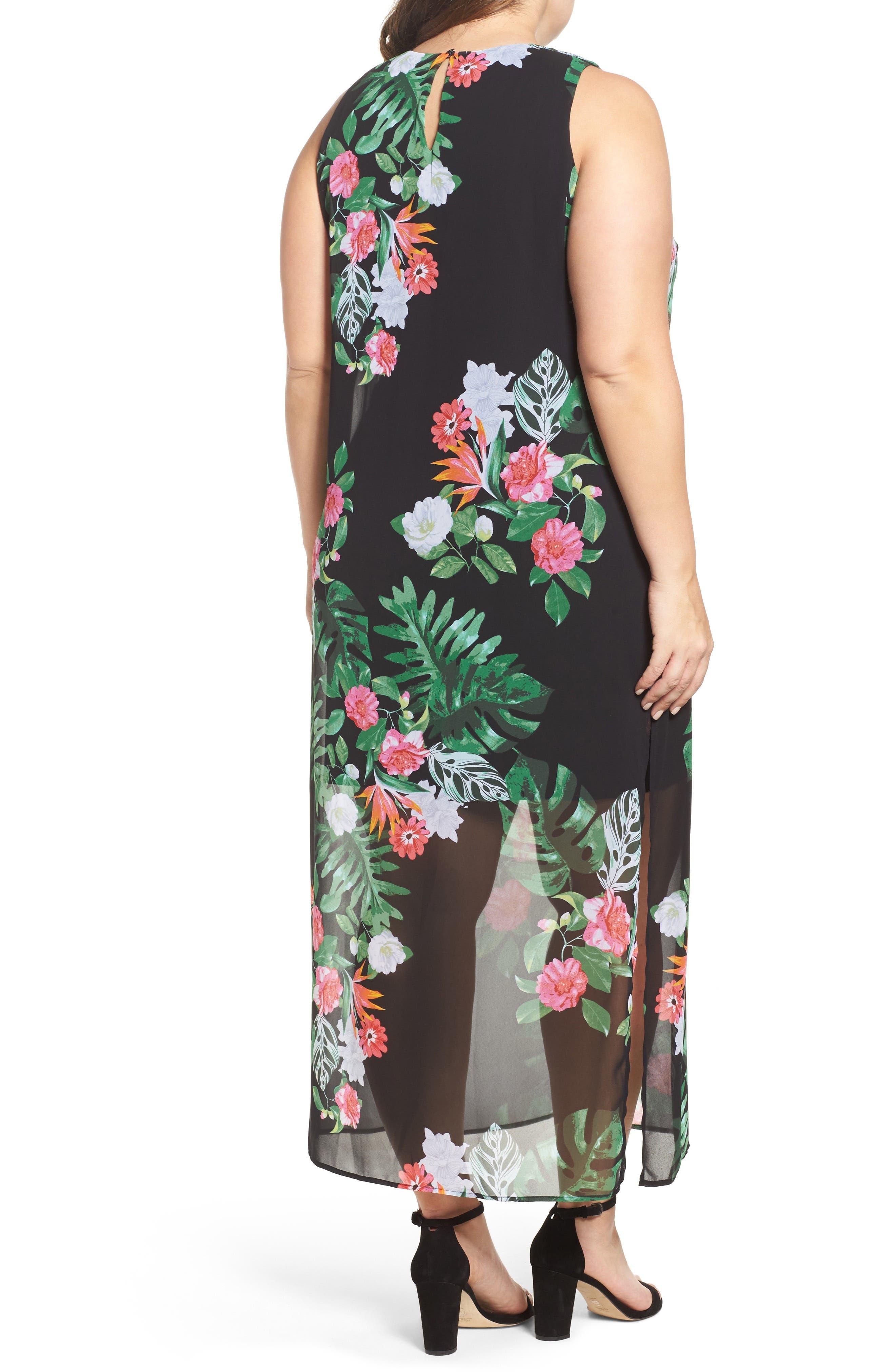 Alternate Image 3  - Vince Camuto Havana Tropical Maxi Dress (Plus Size)