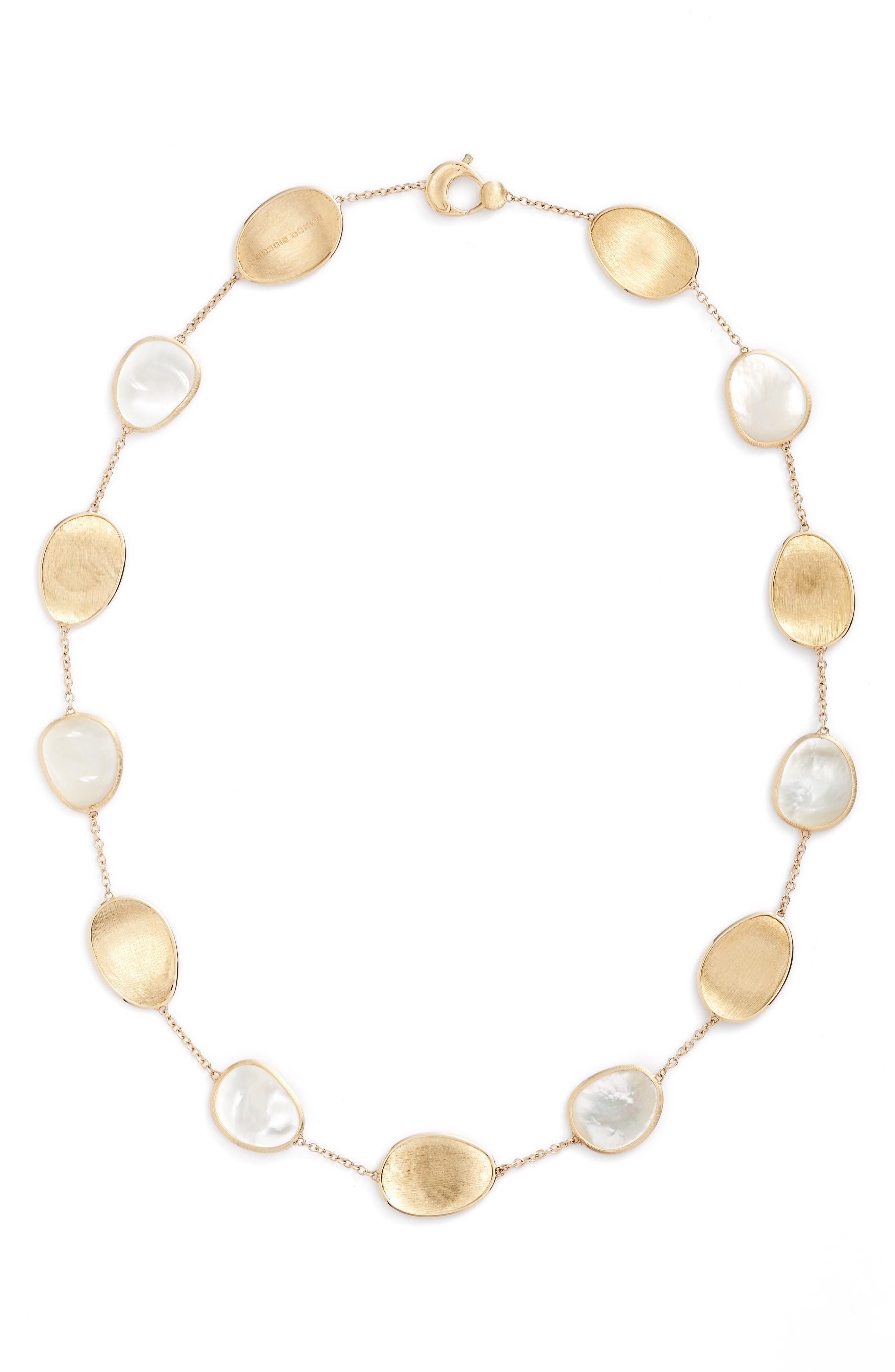 Lunaria Mother of Pearl Collar Necklace,                         Main,                         color, White Mother Of Pearl