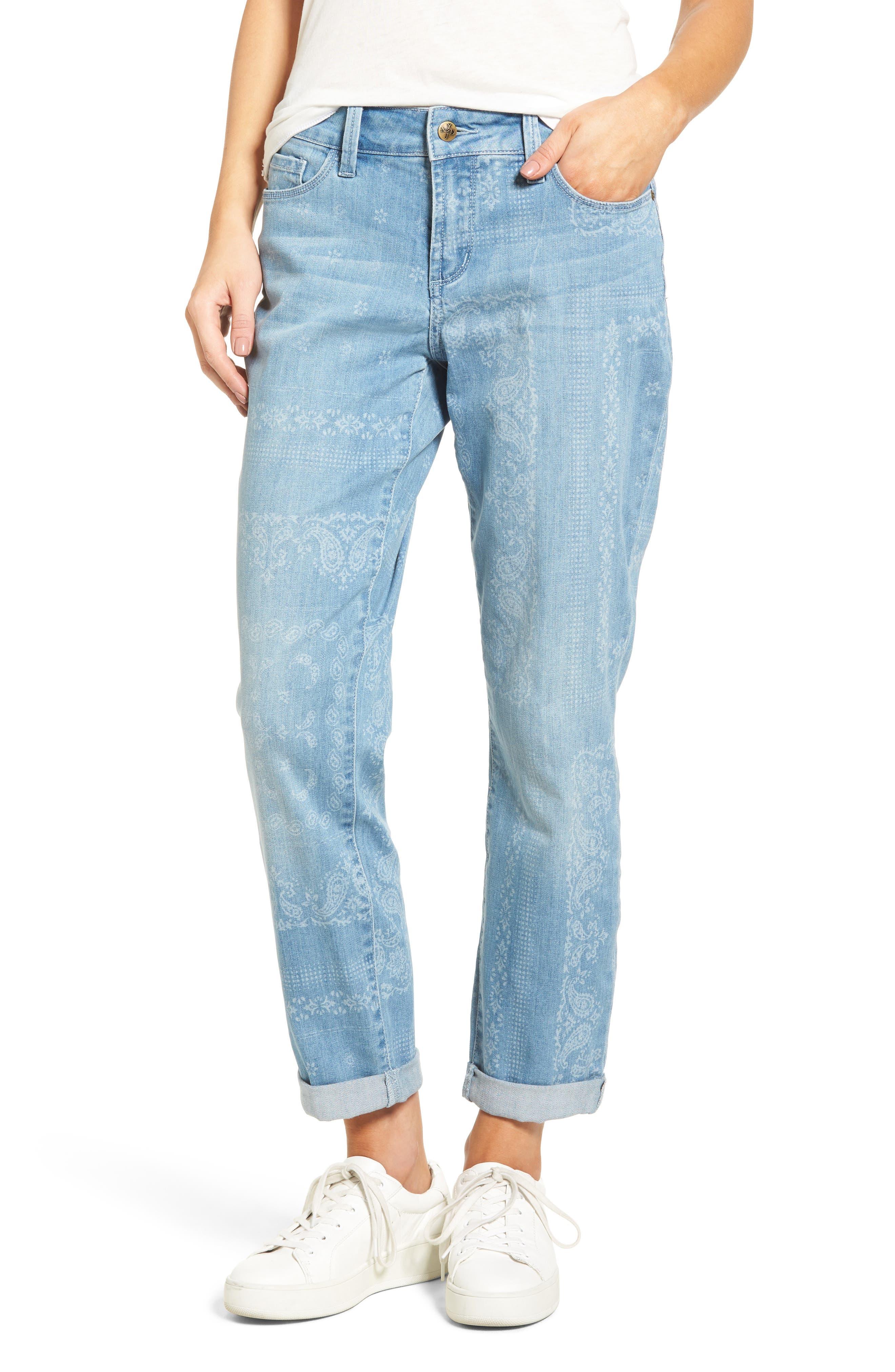 Alternate Image 1 Selected - NYDJ Jessica Print Relaxed Boyfriend Jeans (Bandana) (Regular & Petite)
