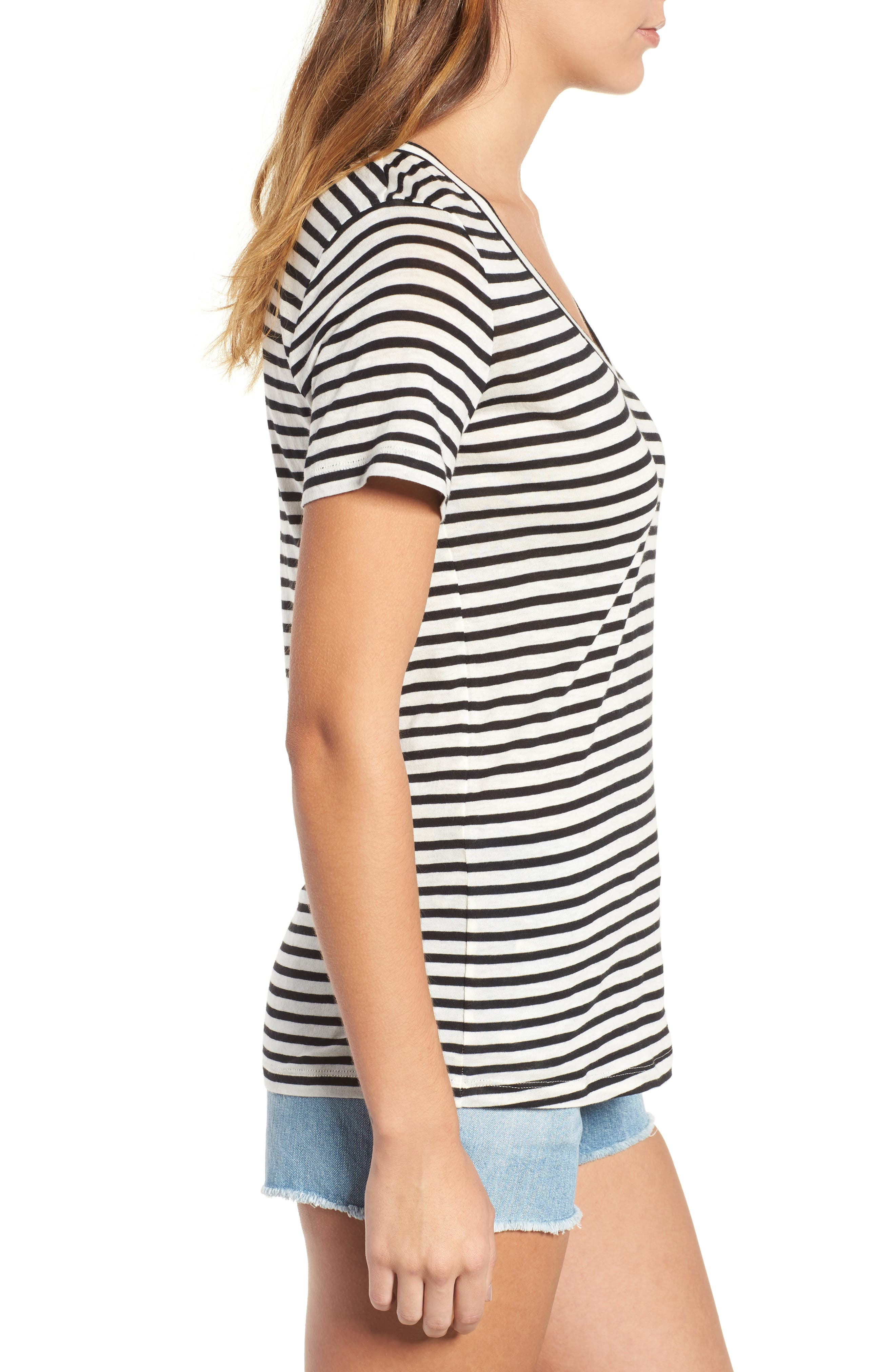 Alternate Image 3  - AG Kiara Stripe Tee