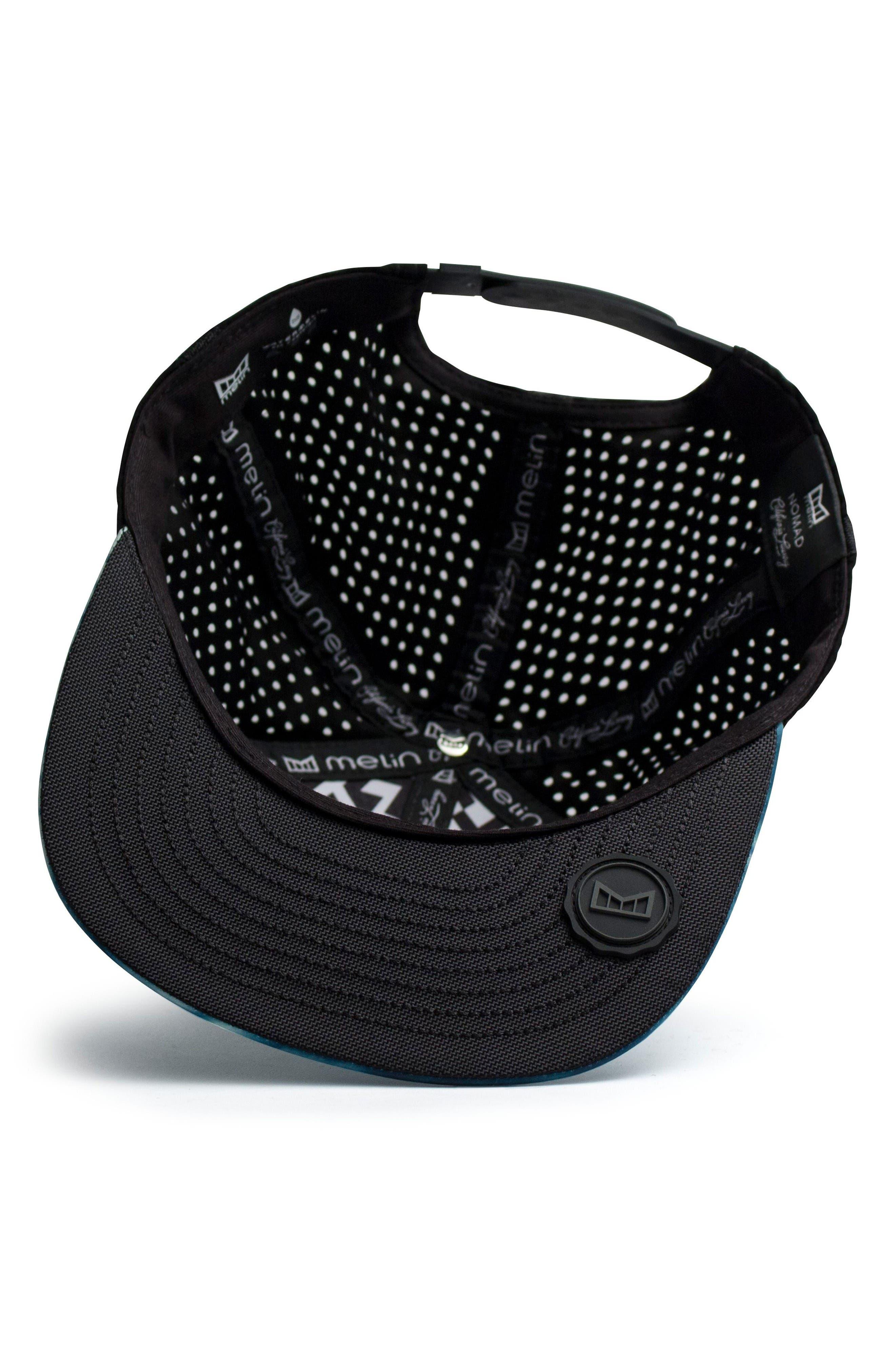 'The Nomad' Split Fit Snapback Baseball Cap,                             Alternate thumbnail 3, color,                             Blue Shibori