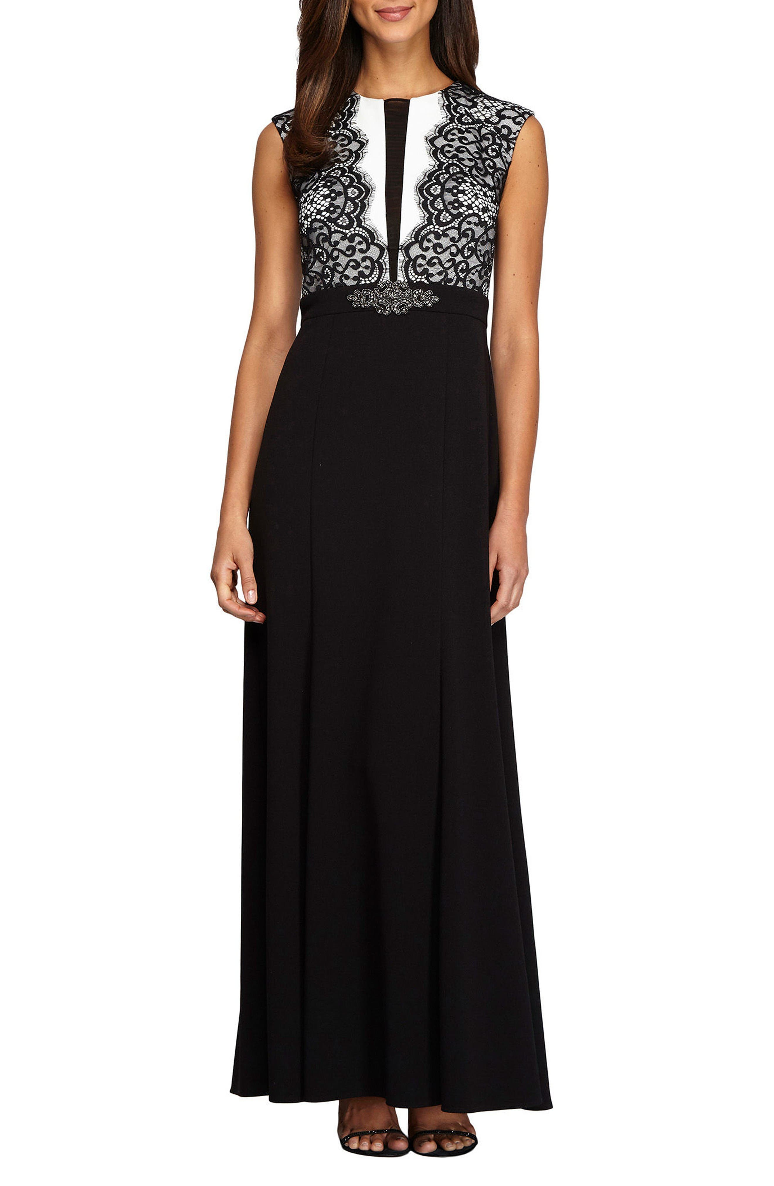 Alternate Image 1 Selected - Alex Evenings Lace Gown