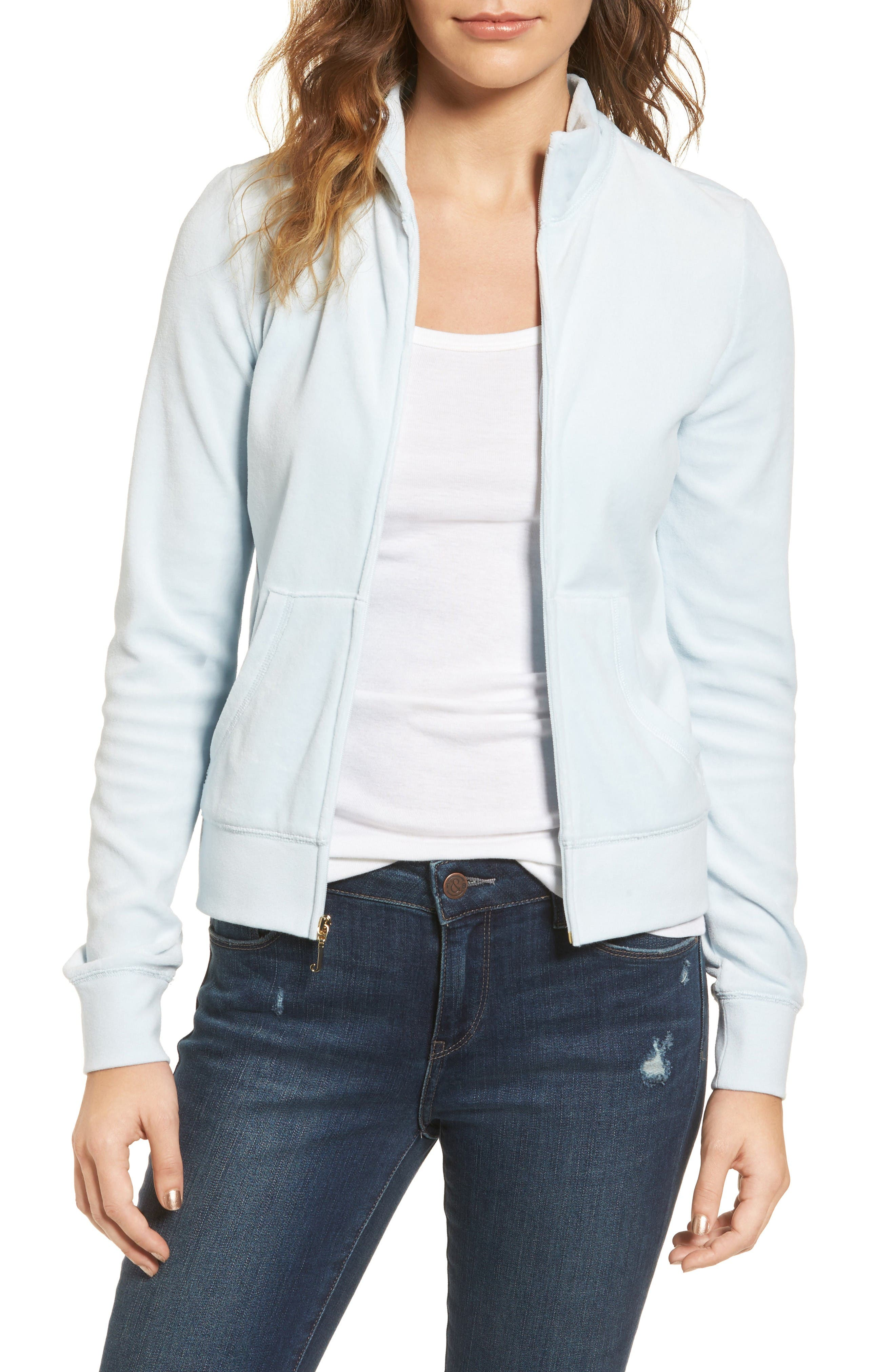 Main Image - Juicy Couture Fairfax Velour Track Jacket