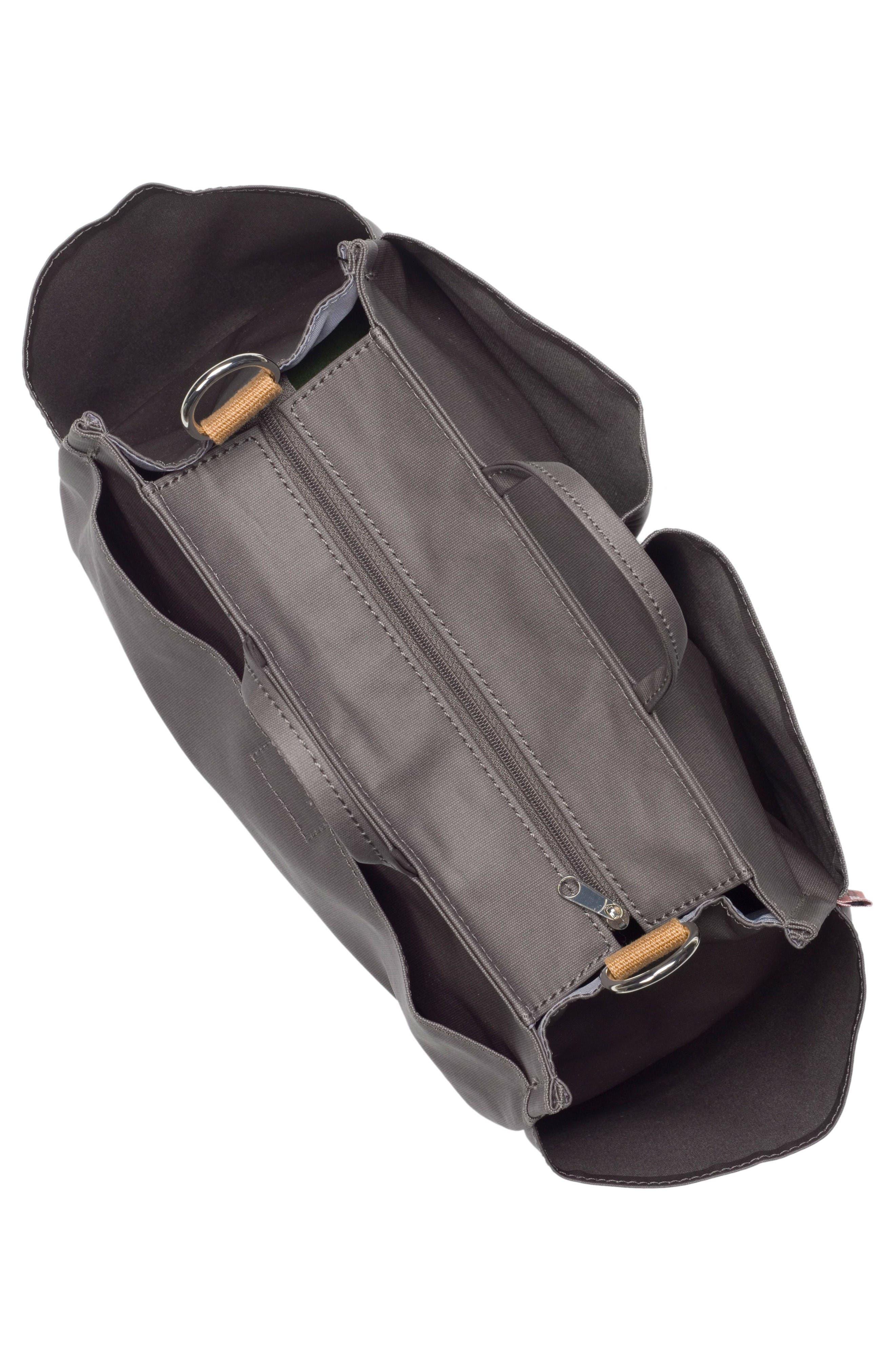 Noa Diaper Bag,                             Alternate thumbnail 5, color,                             Grey