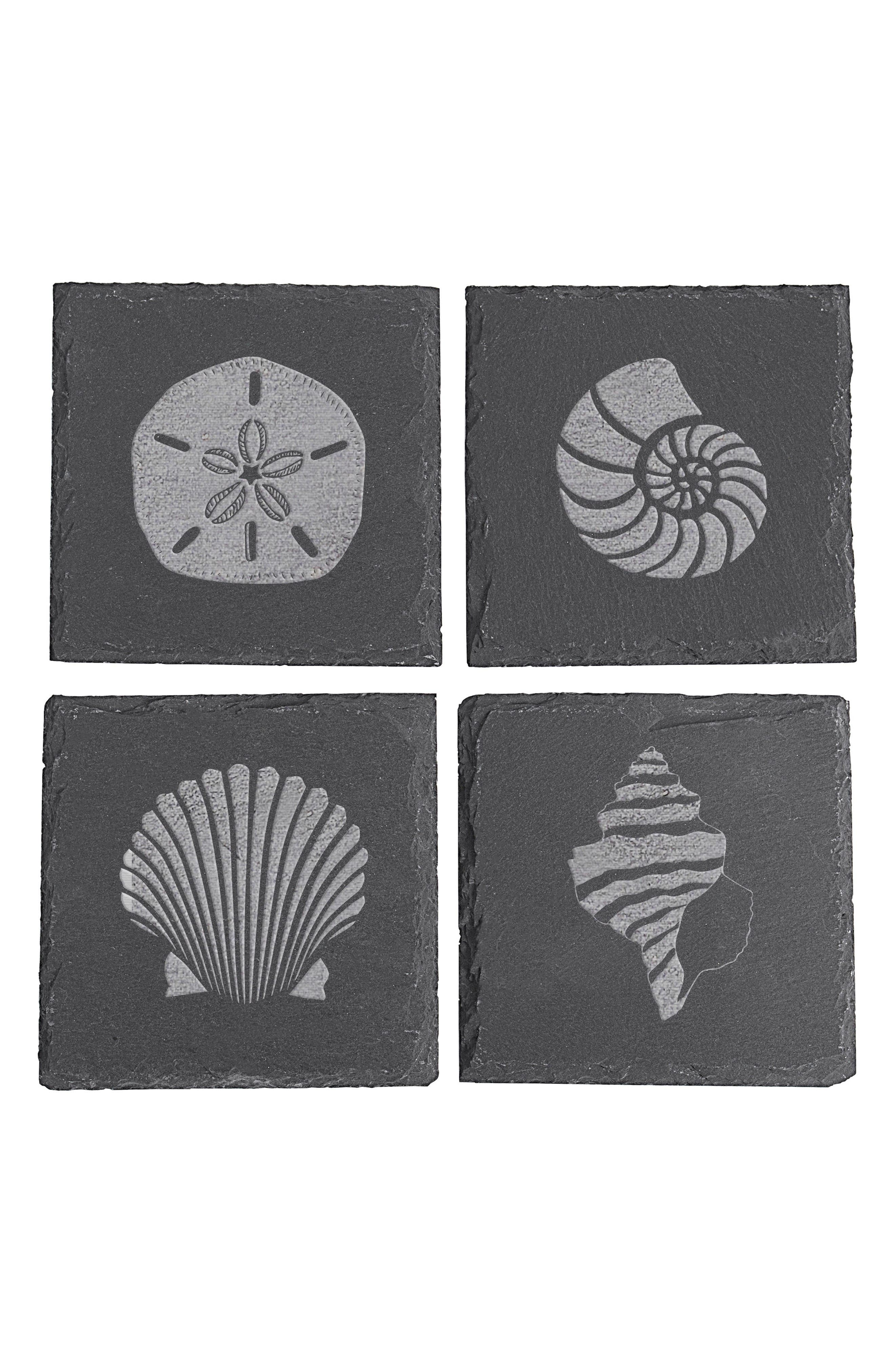 Cathy's Concepts Set of 4 Slate Coasters