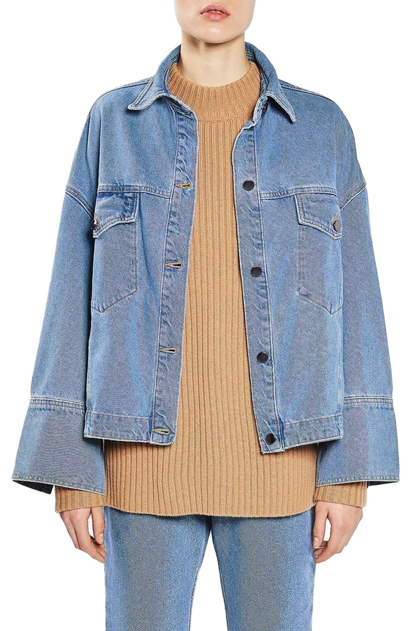 TOPSHOP BOUTIQUE Deep Cuff Denim Jacket