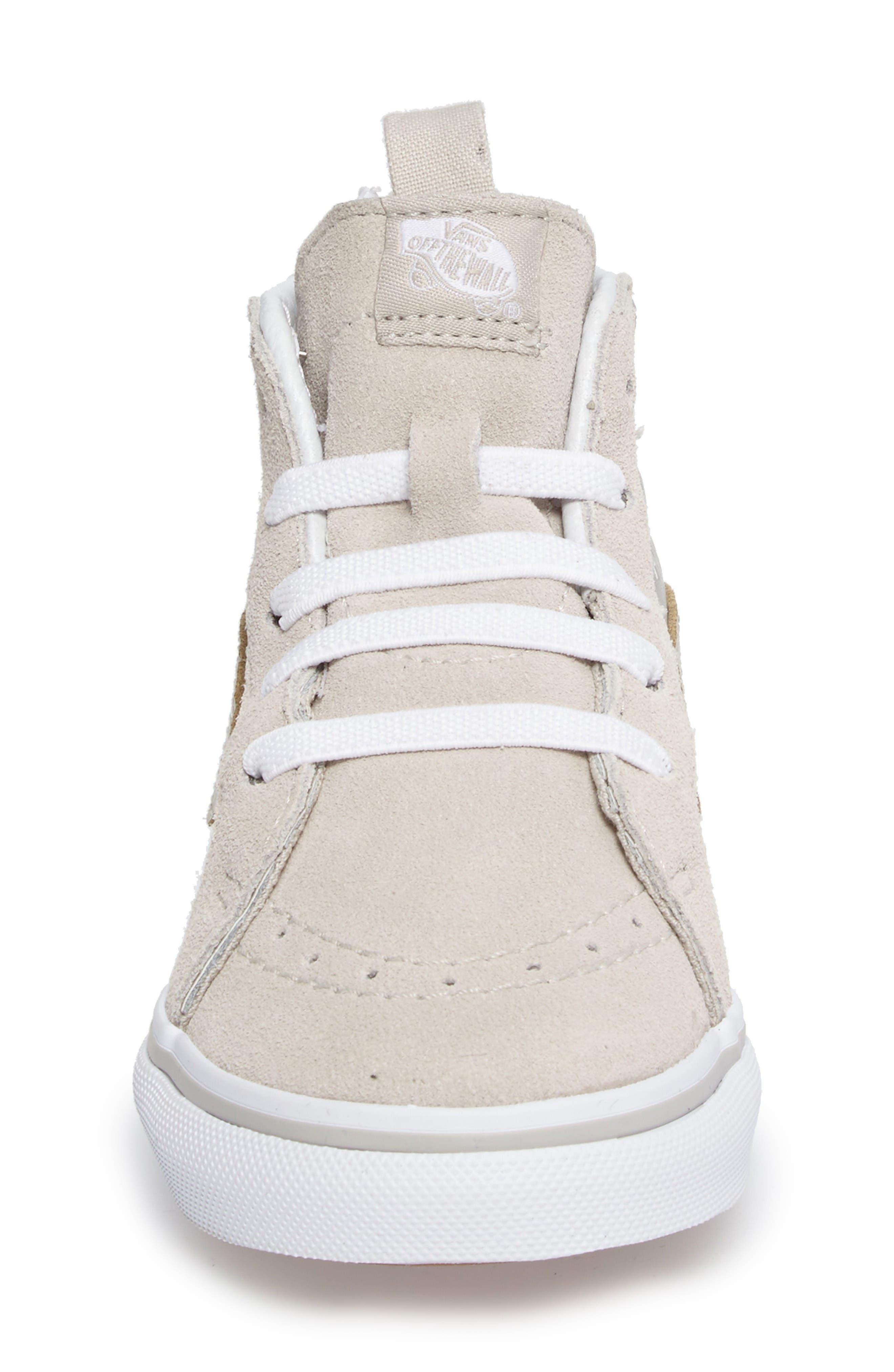 Sk8-Hi Zip Sneaker,                             Alternate thumbnail 3, color,                             Silver Metallic Heart Suede
