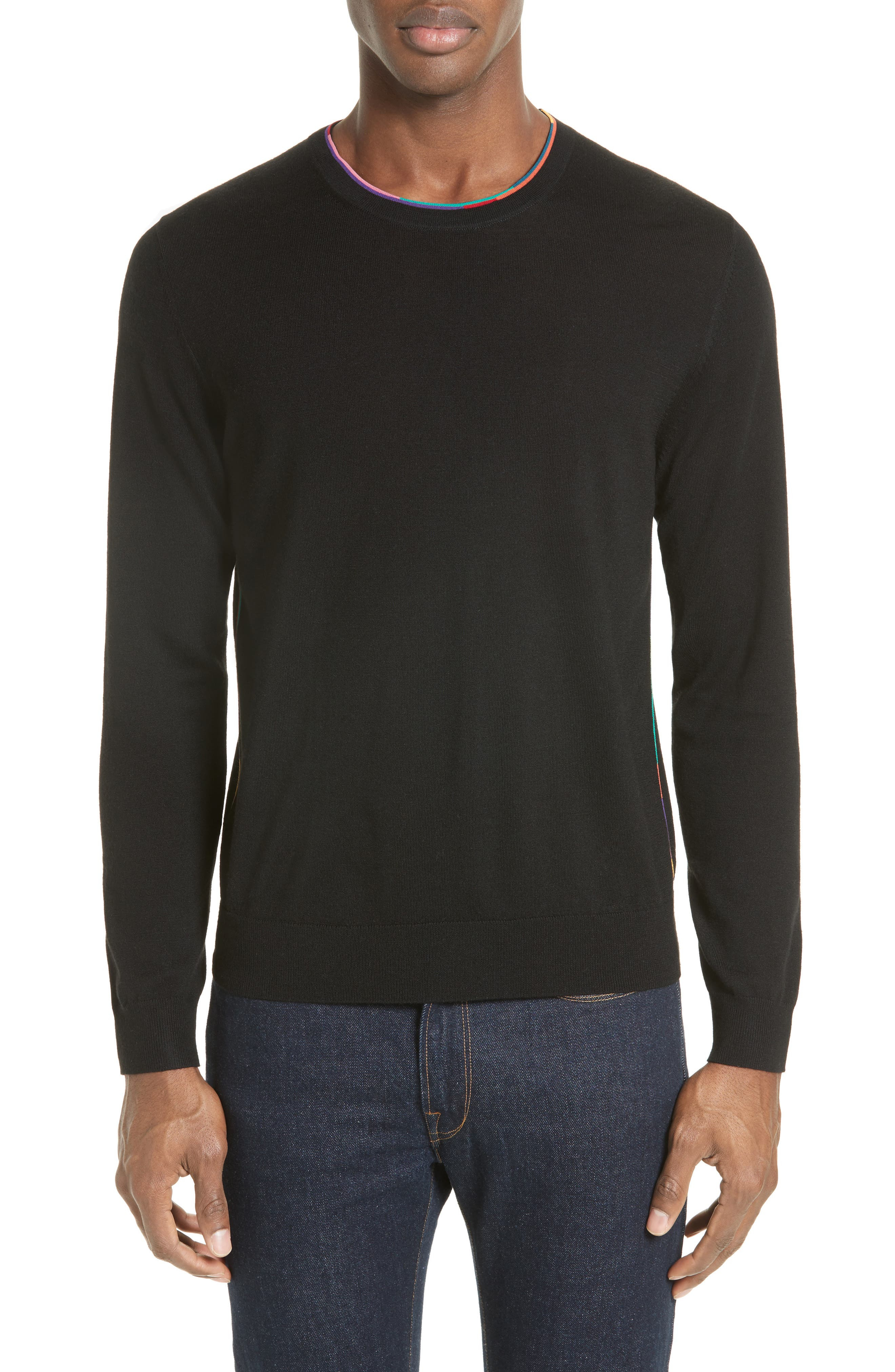 Main Image - PS Paul Smith Multicolor Piping Sweater