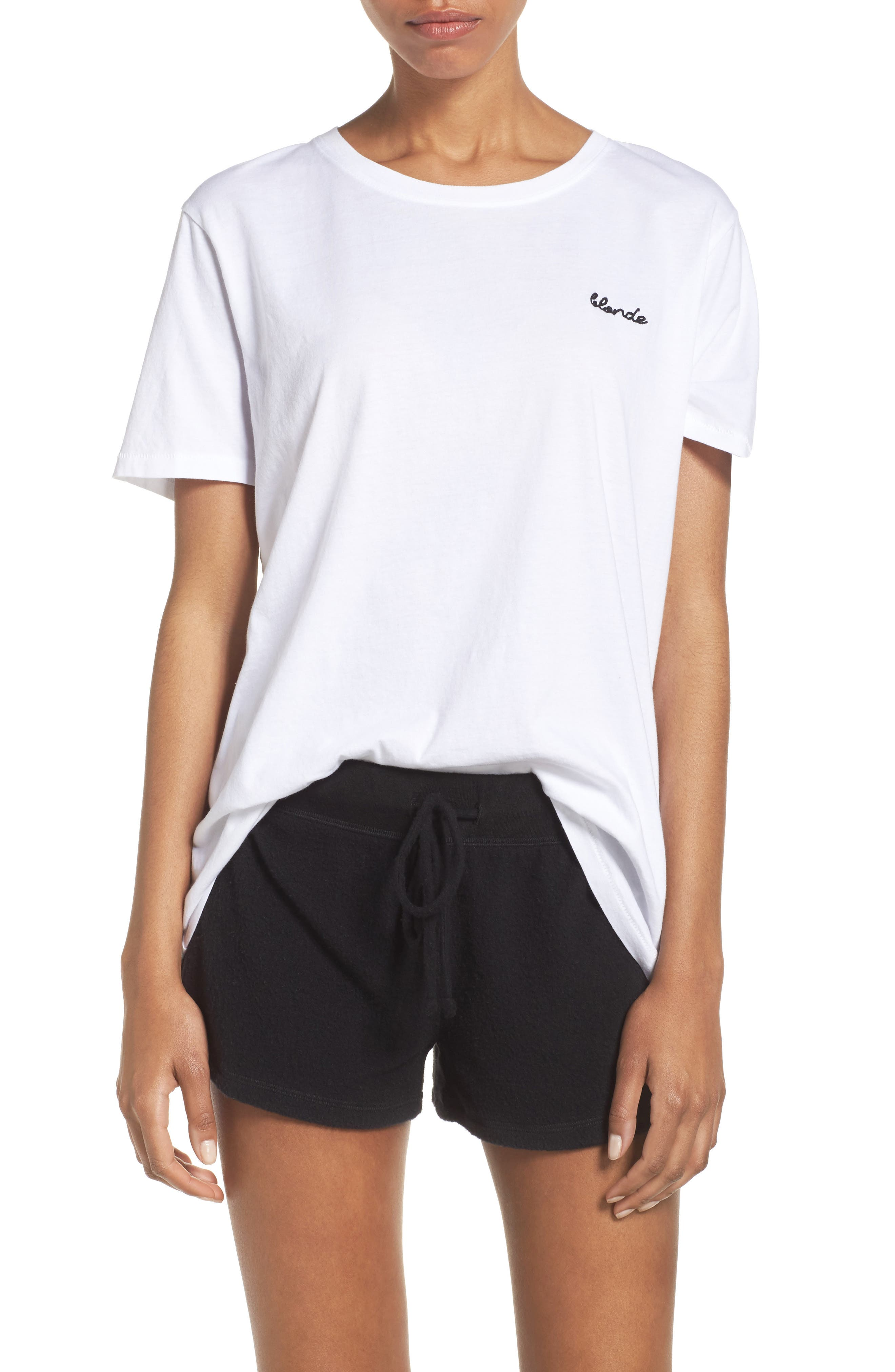 Blonde Lounge Tee,                         Main,                         color, White