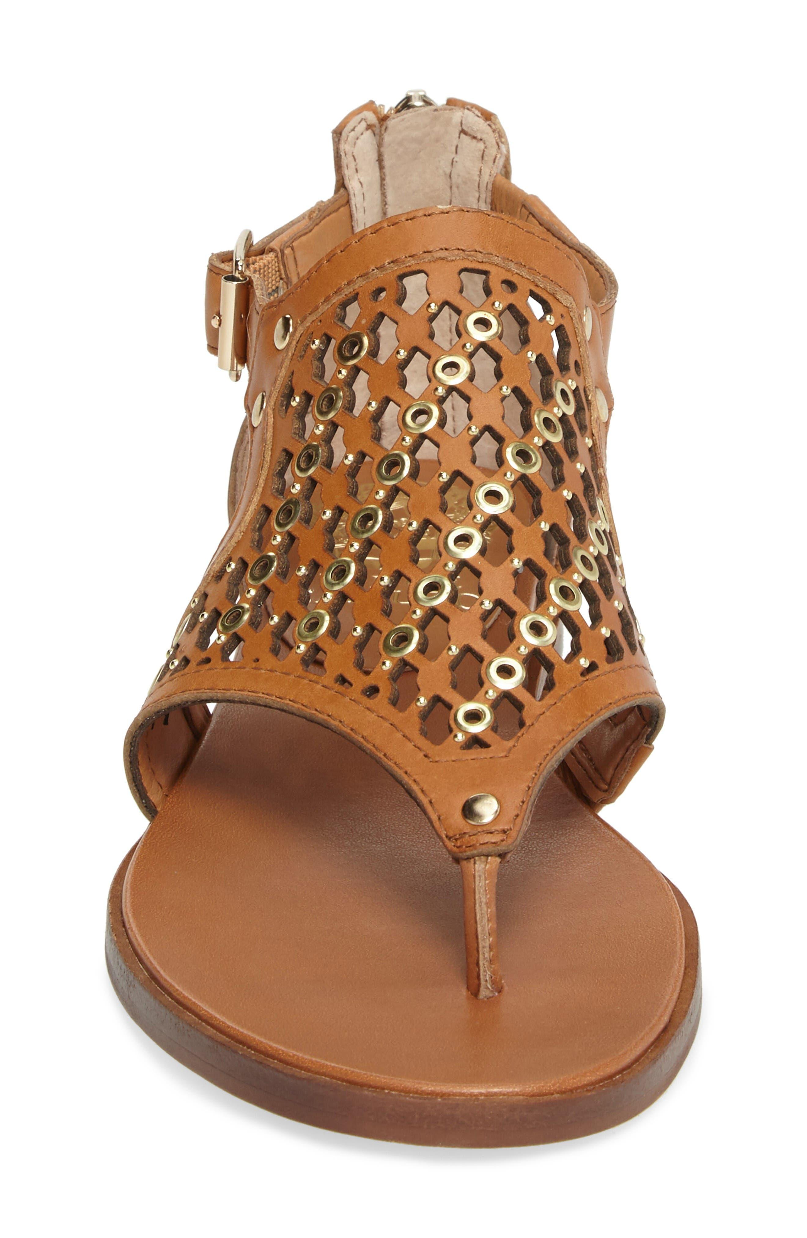 Sitara Sandal,                             Alternate thumbnail 4, color,                             Peanut Leather
